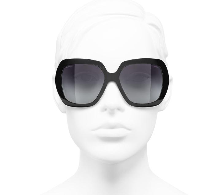 image 5 - Square Sunglasses - Acetate - Black