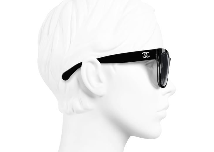image 7 - Square Sunglasses - Acetate - Black