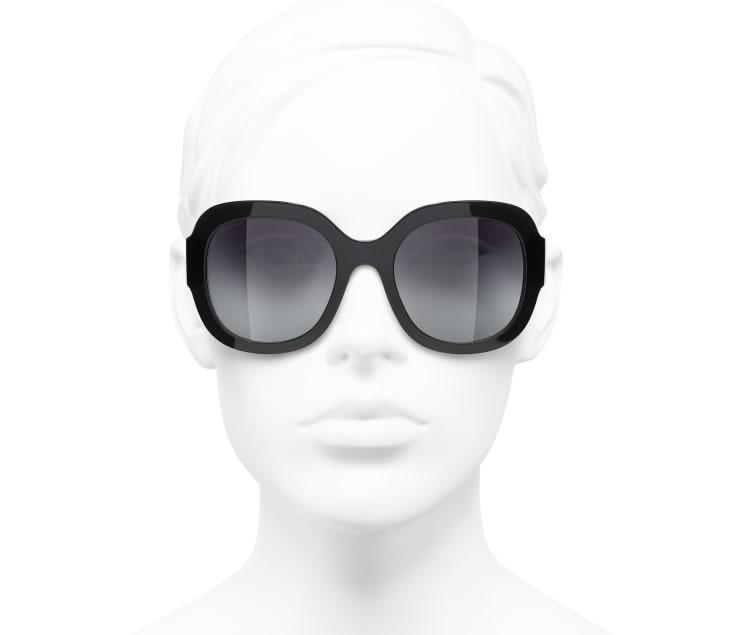 image 5 - Óculos De Sol Quadrado - Acetato & Metal - Preto
