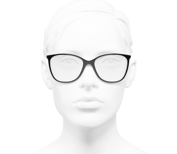 image 5 - Óculos De Sol Quadrado - Metal & Couro De Novilho - Preto & Dourado