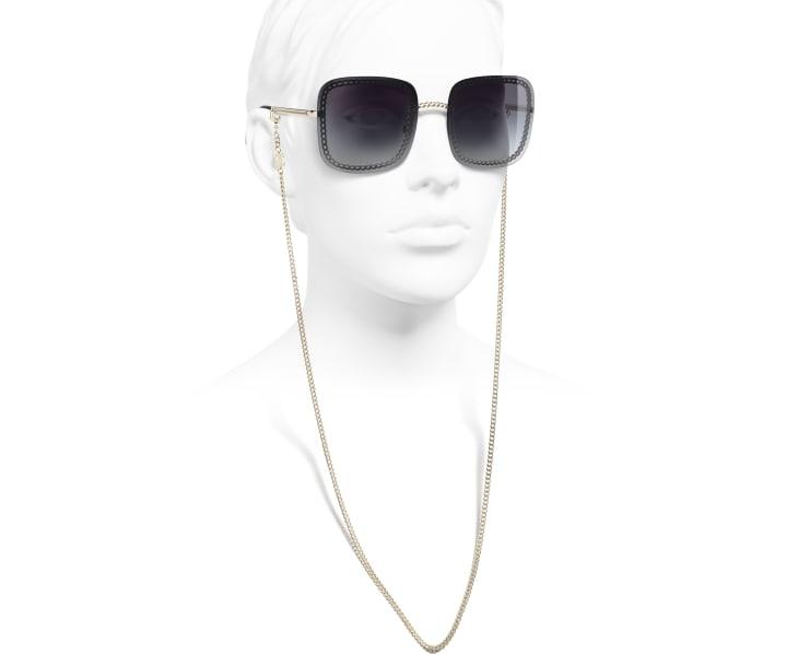 image 7 - Óculos De Sol Quadrado - Metal - Dourado