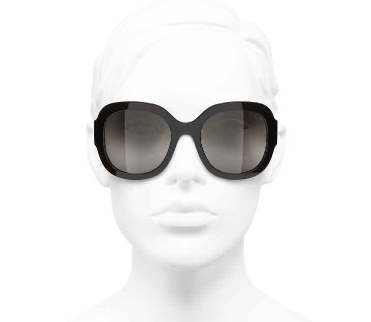 image 5 - Óculos De Sol Quadrado - Acetato & Metal - Marrom transparente