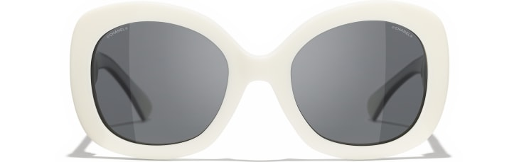 image 2 - Lunettes carrées - Acétate - Blanc