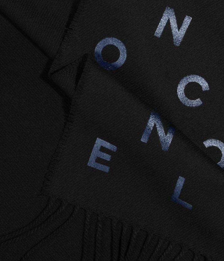 image 1 - Stole - Wool & Cashmere - Black & Blue