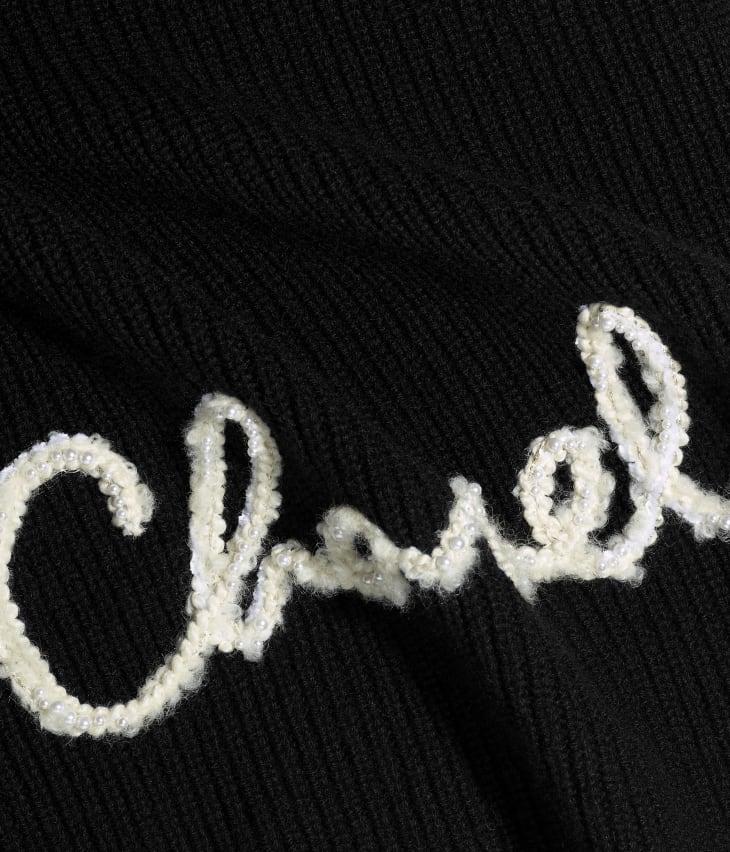 image 1 - Stole - Cashmere - Black