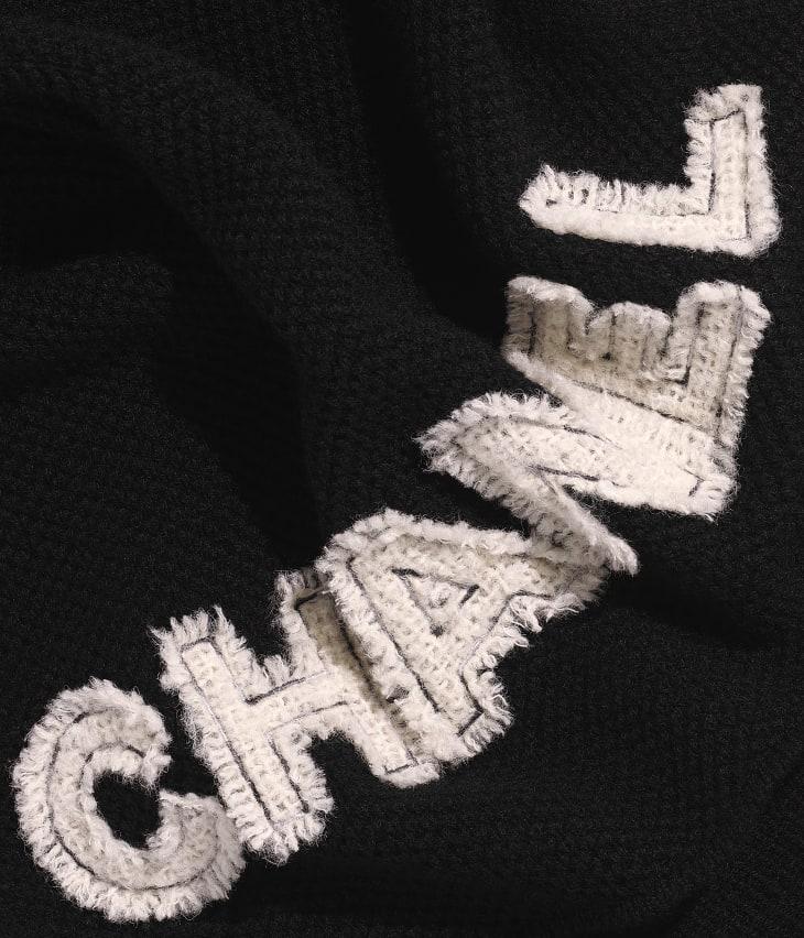 image 1 - Étole - Cachemire & tweed - Noir