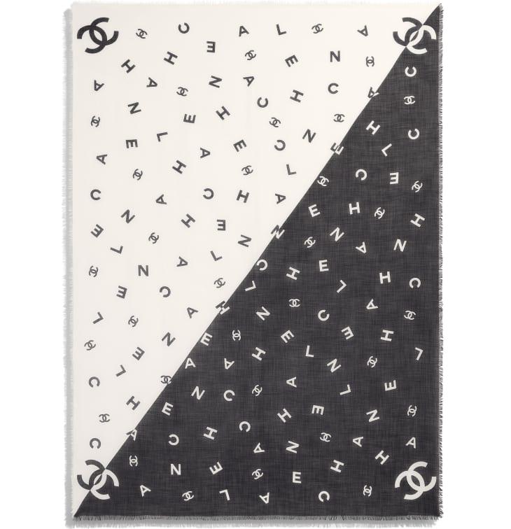 image 3 - Stole - Cashmere - Black & White