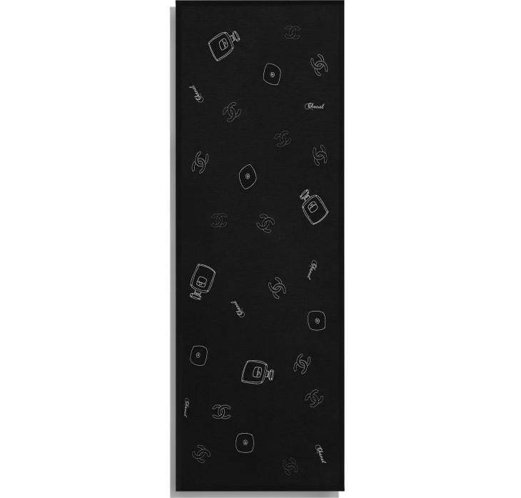 image 3 - Stole - Wool, Silk & Cashmere - Black