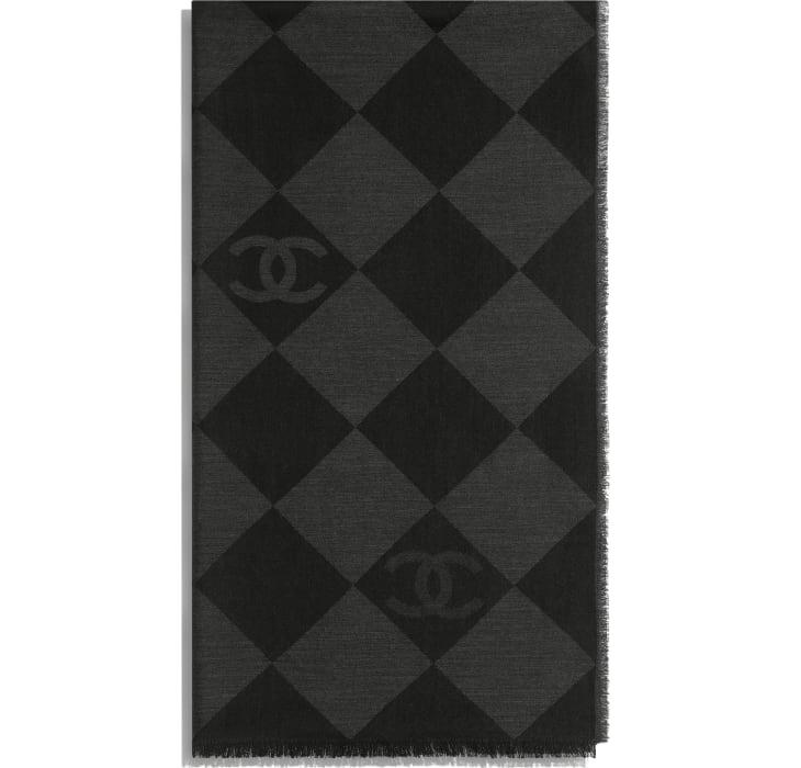 image 2 - Stole - Cashmere - Charcoal
