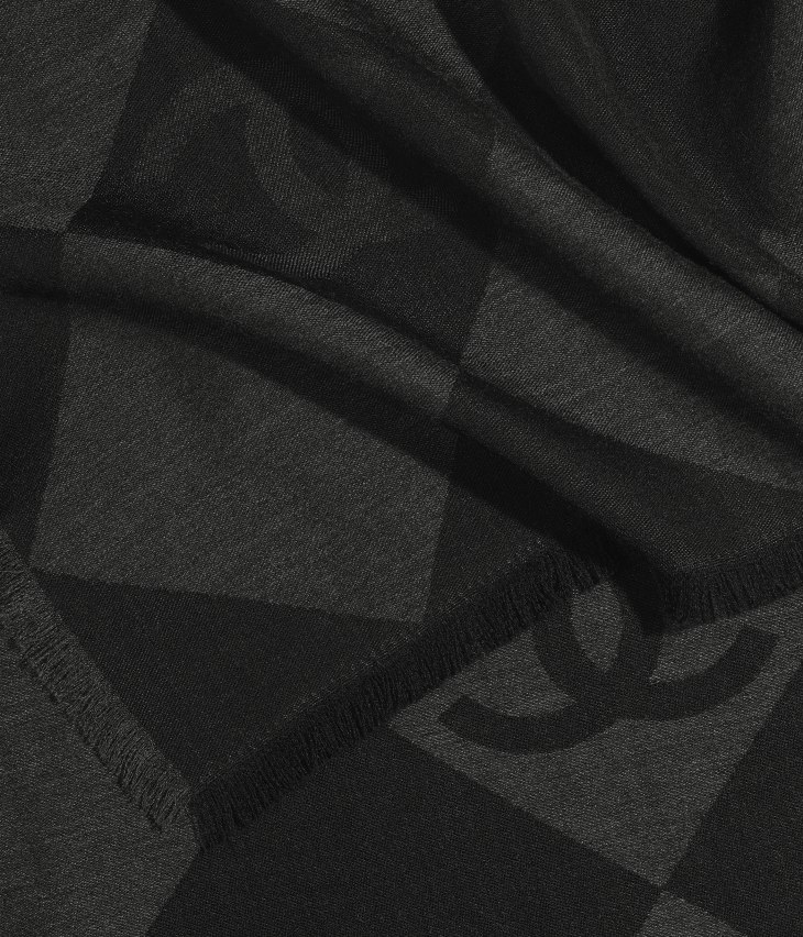 image 1 - Stole - Cashmere - Charcoal
