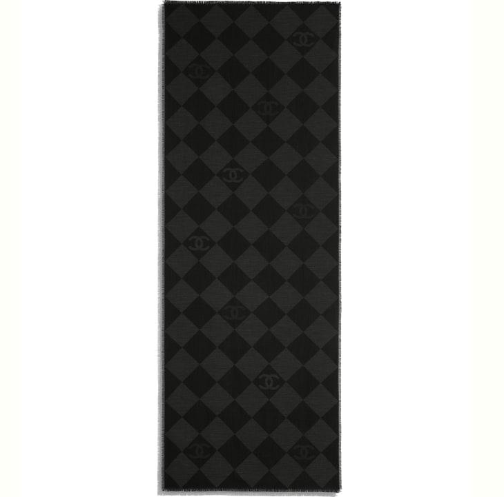 image 3 - Stole - Cashmere - Charcoal