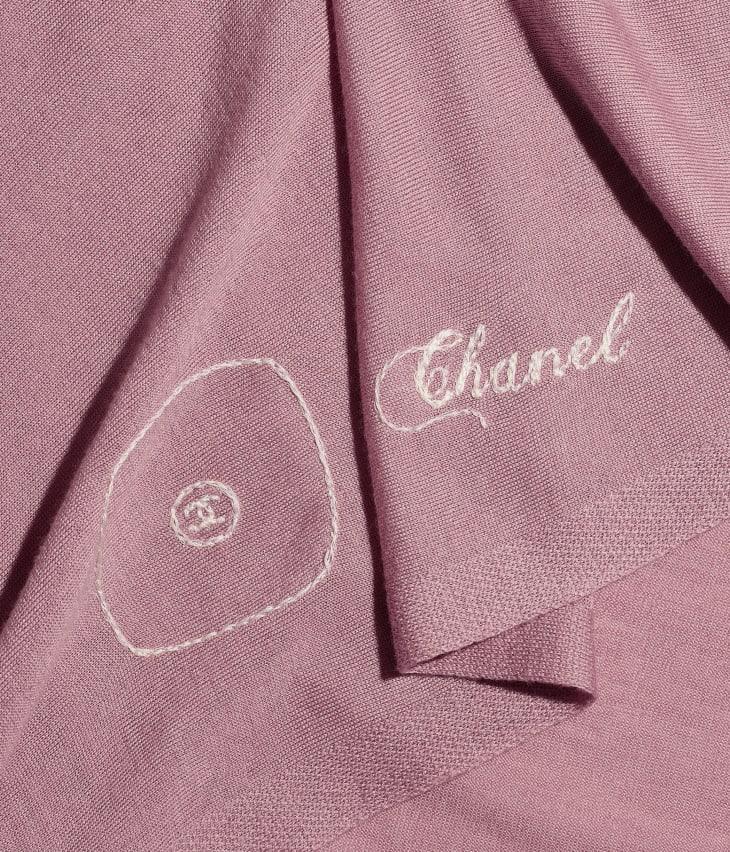 image 1 - ストール - ウール、シルク & カシミヤ - ピンク