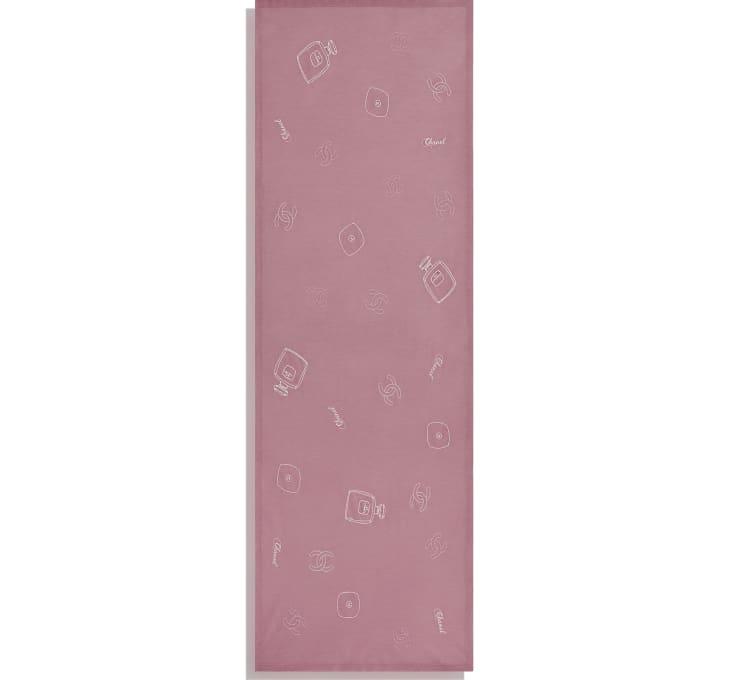 image 3 - ストール - ウール、シルク & カシミヤ - ピンク