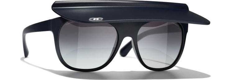image 1 - Visor Sunglasses - Nylon - Azul Escuro