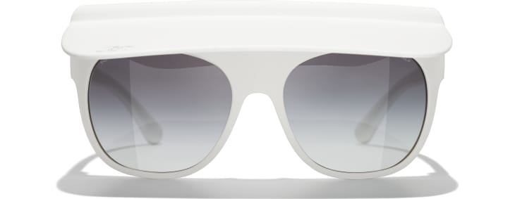 image 2 - Visor Sunglasses - Nylon - White