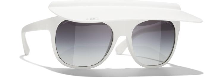 image 1 - Visor Sunglasses - Nylon - White