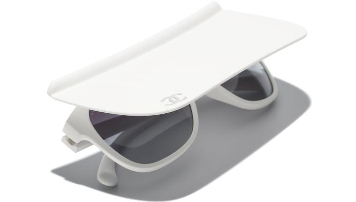 image 4 - Visor Sunglasses - Nylon - White