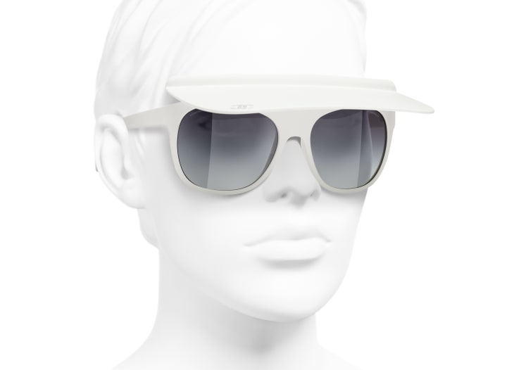 image 6 - Visor Sunglasses - Nylon - White