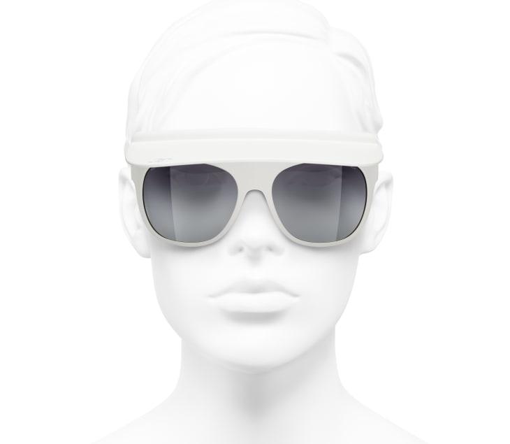 image 5 - Visor Sunglasses - Nylon - White