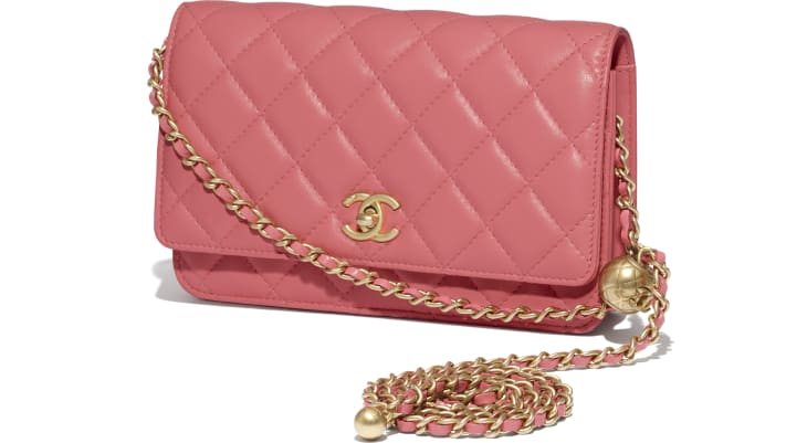 image 4 - Wallet On Chain - Lambskin - Coral