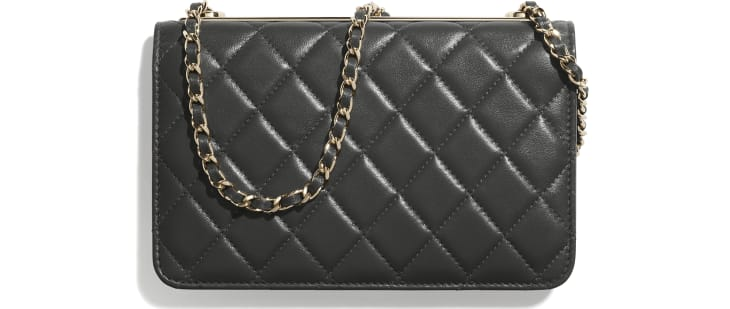 image 2 - Wallet On Chain - Lambskin - Dark Grey
