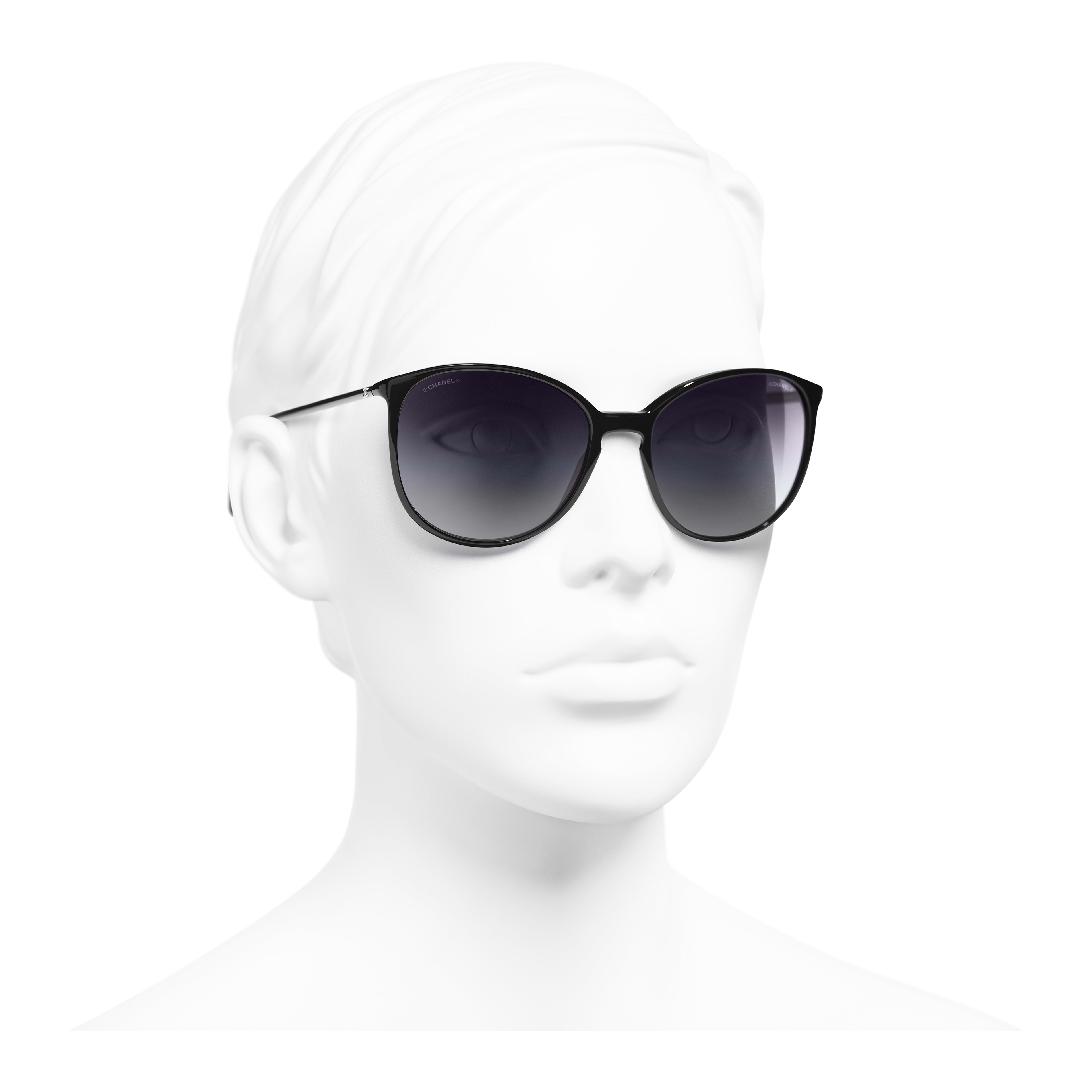 Butterfly Sunglasses Acetate Black - - see full sized version
