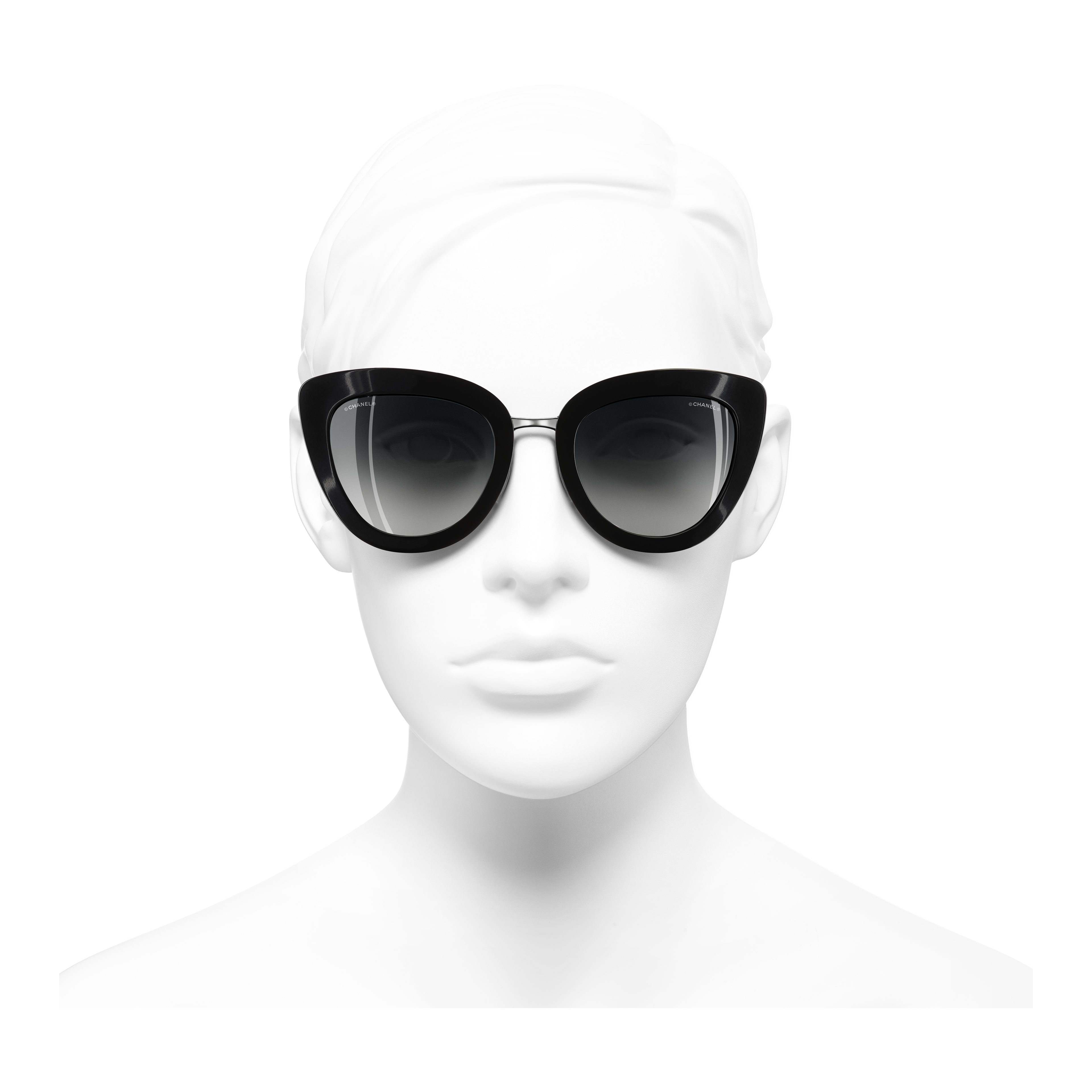 Cat Eye Sunglasses Acetate & Metal Black -                                                                     view 2 - see full sized version