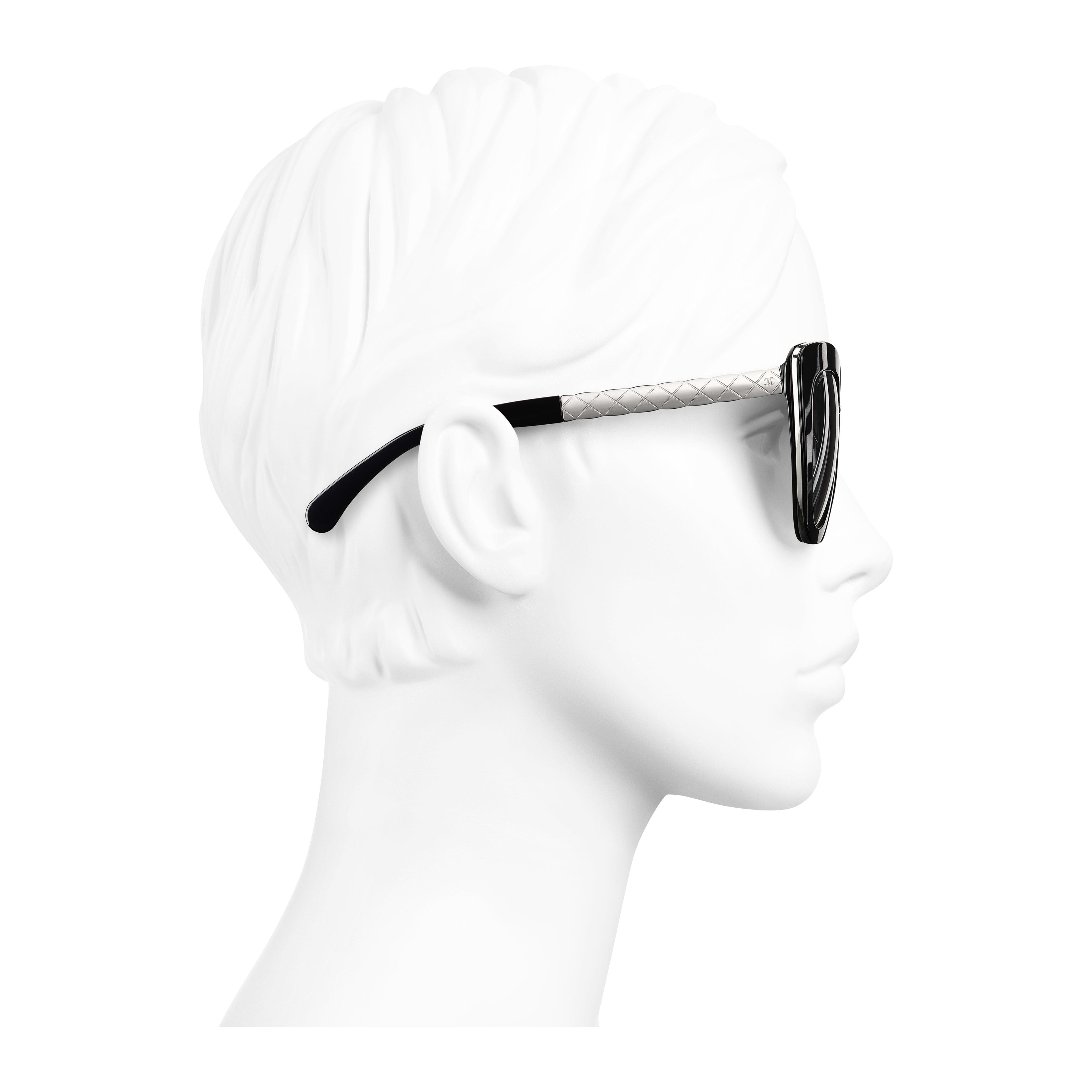 Cat Eye Sunglasses Acetate & Metal Black - - see full sized version