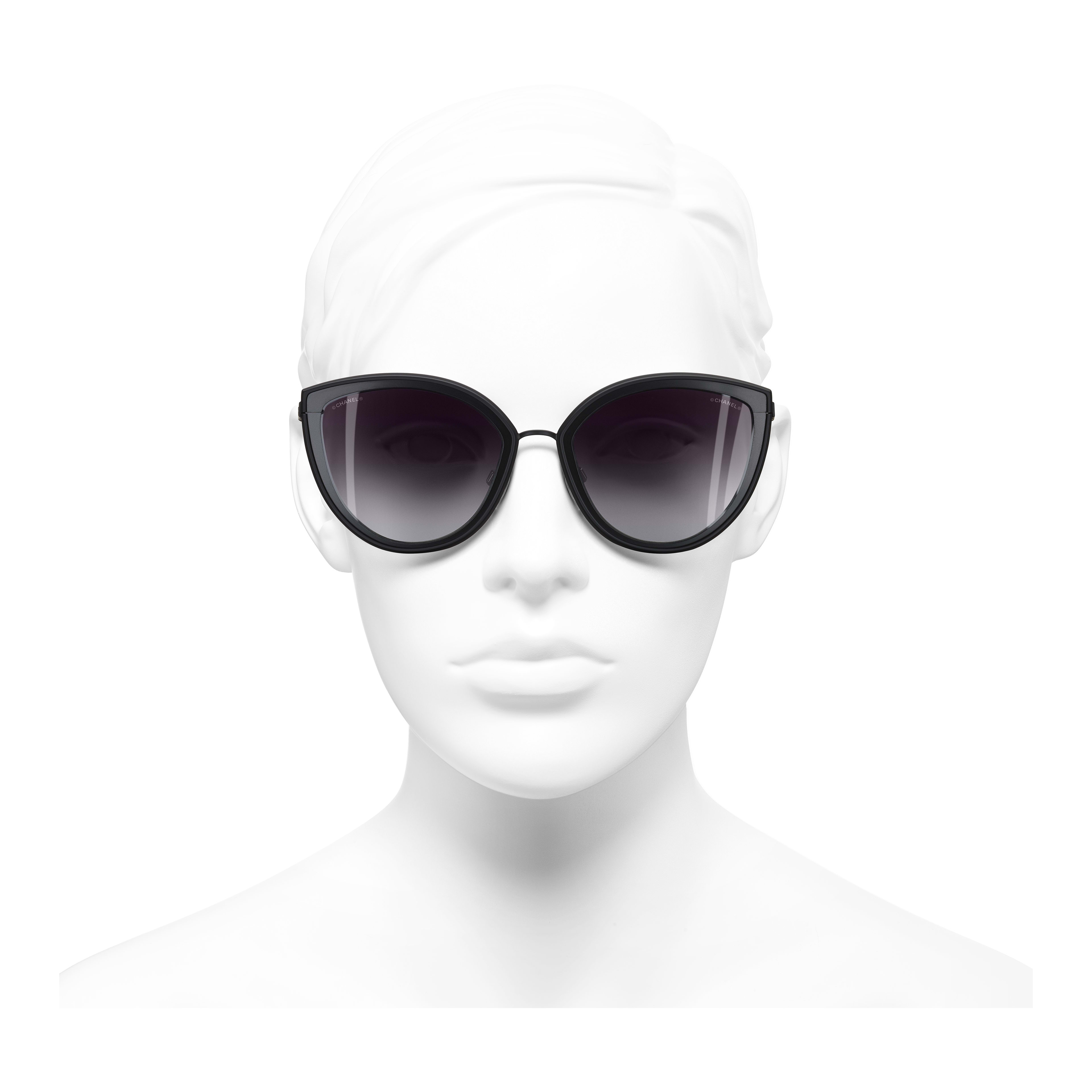 Cat Eye Sunglasses Metal Black -                                                                     view 2 - see full sized version