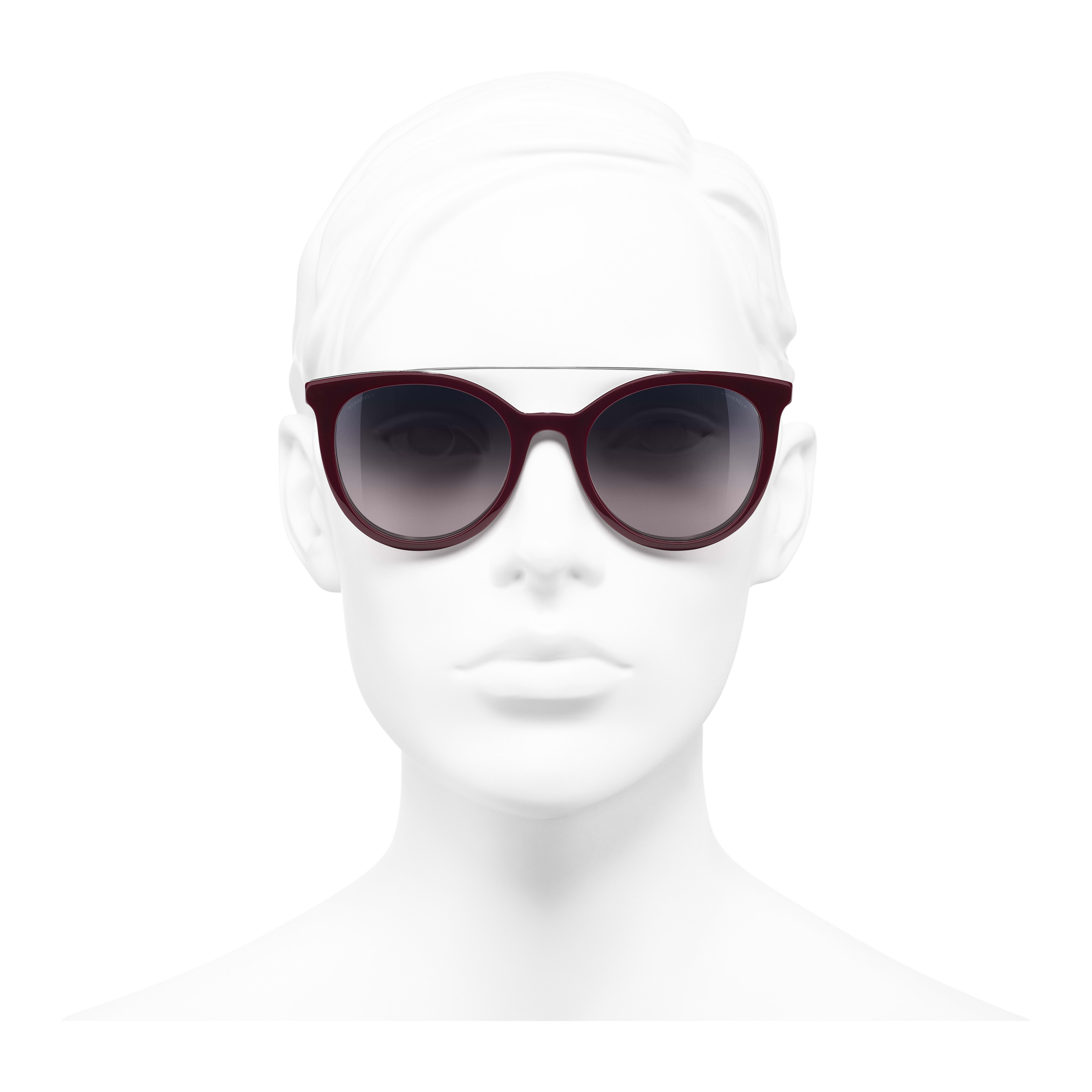 Clip on Sunglasses - Black - Acetate & Metal - Worn front view - see full sized version