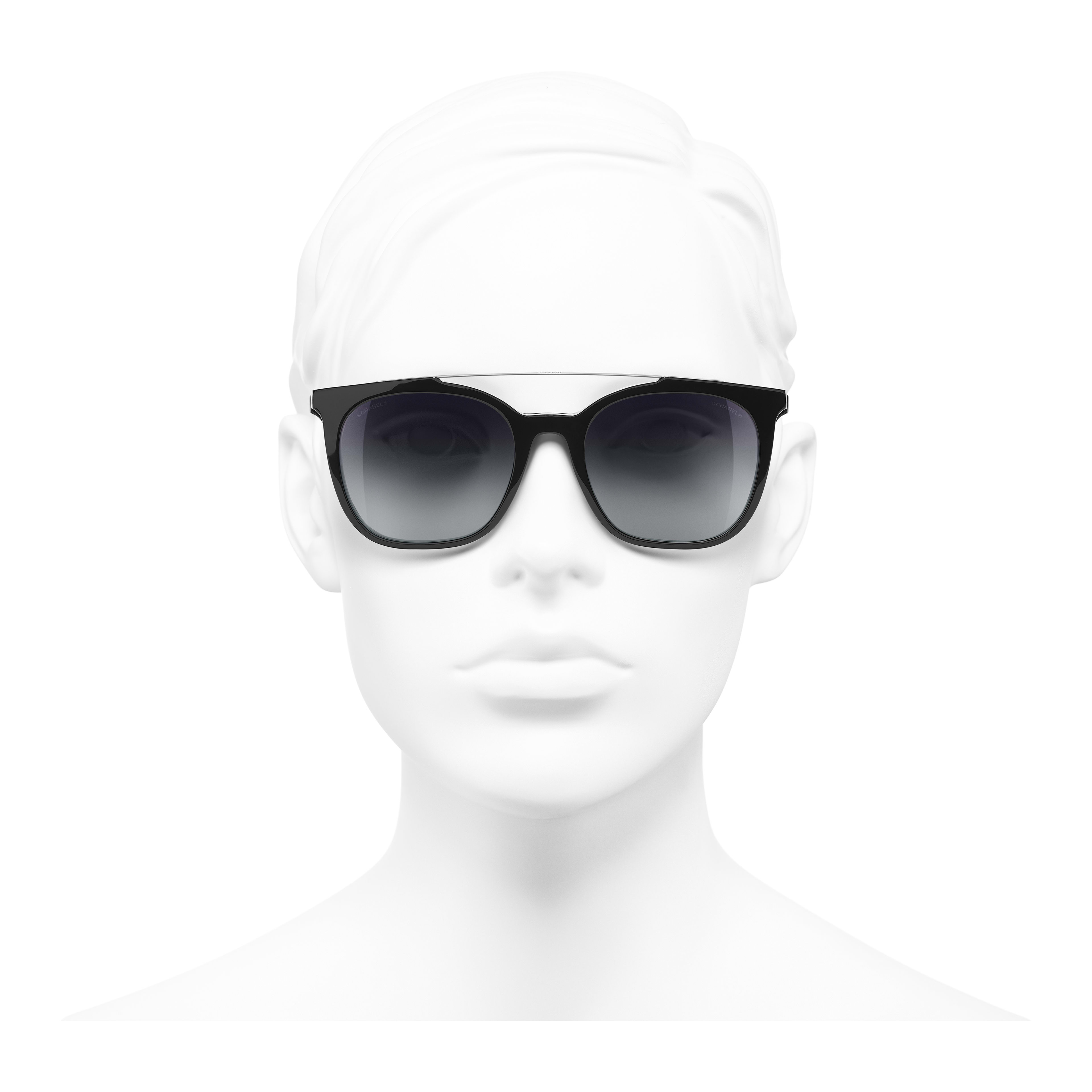 Clip on Sunglasses Acetate & Metal Black -                                                                     view 2 - see full sized version