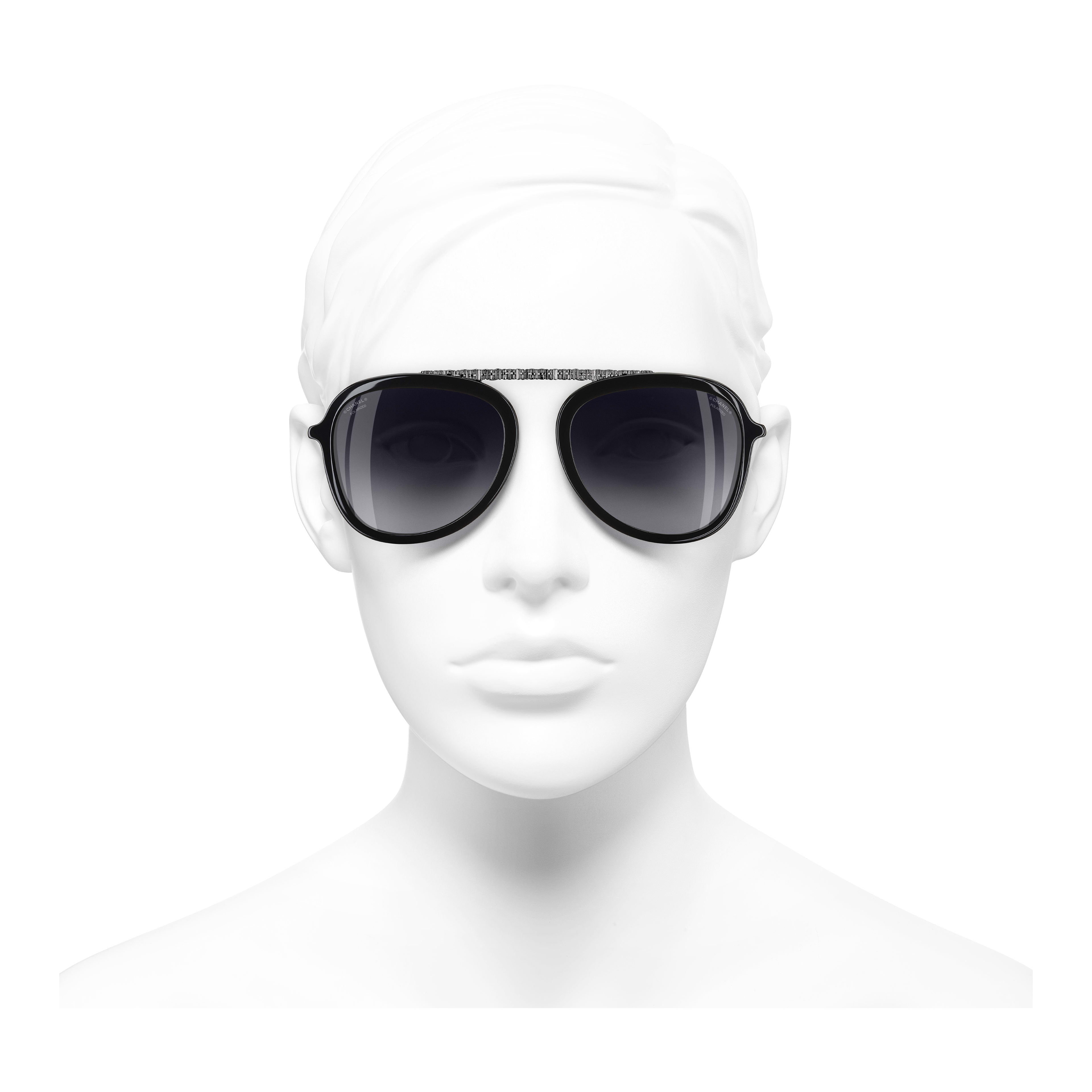 Pilot Sunglasses Acetate - Polarized Lenses Black -                                                                     view 2 - see full sized version