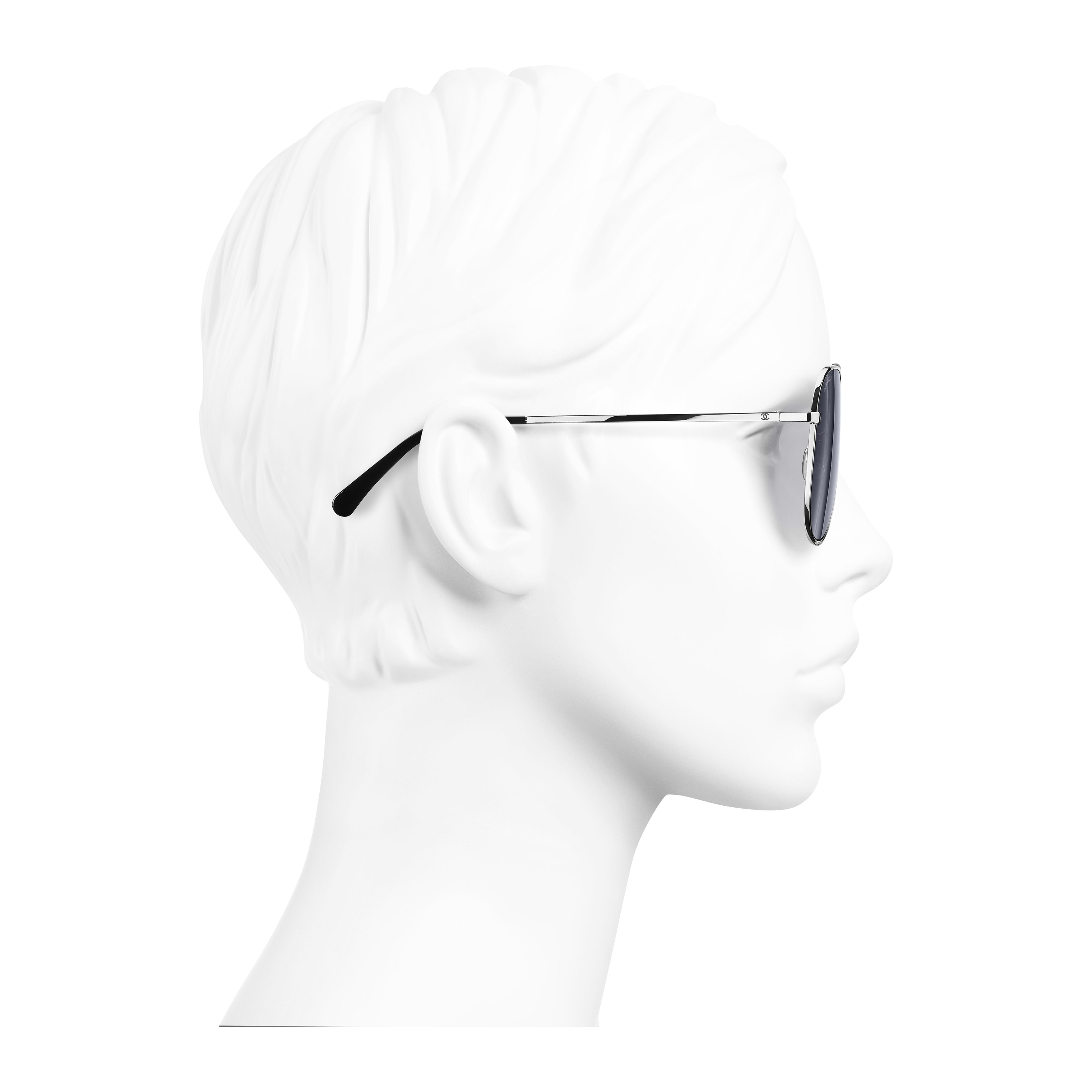 Pilot Sunglasses Metal Silver - - see full sized version