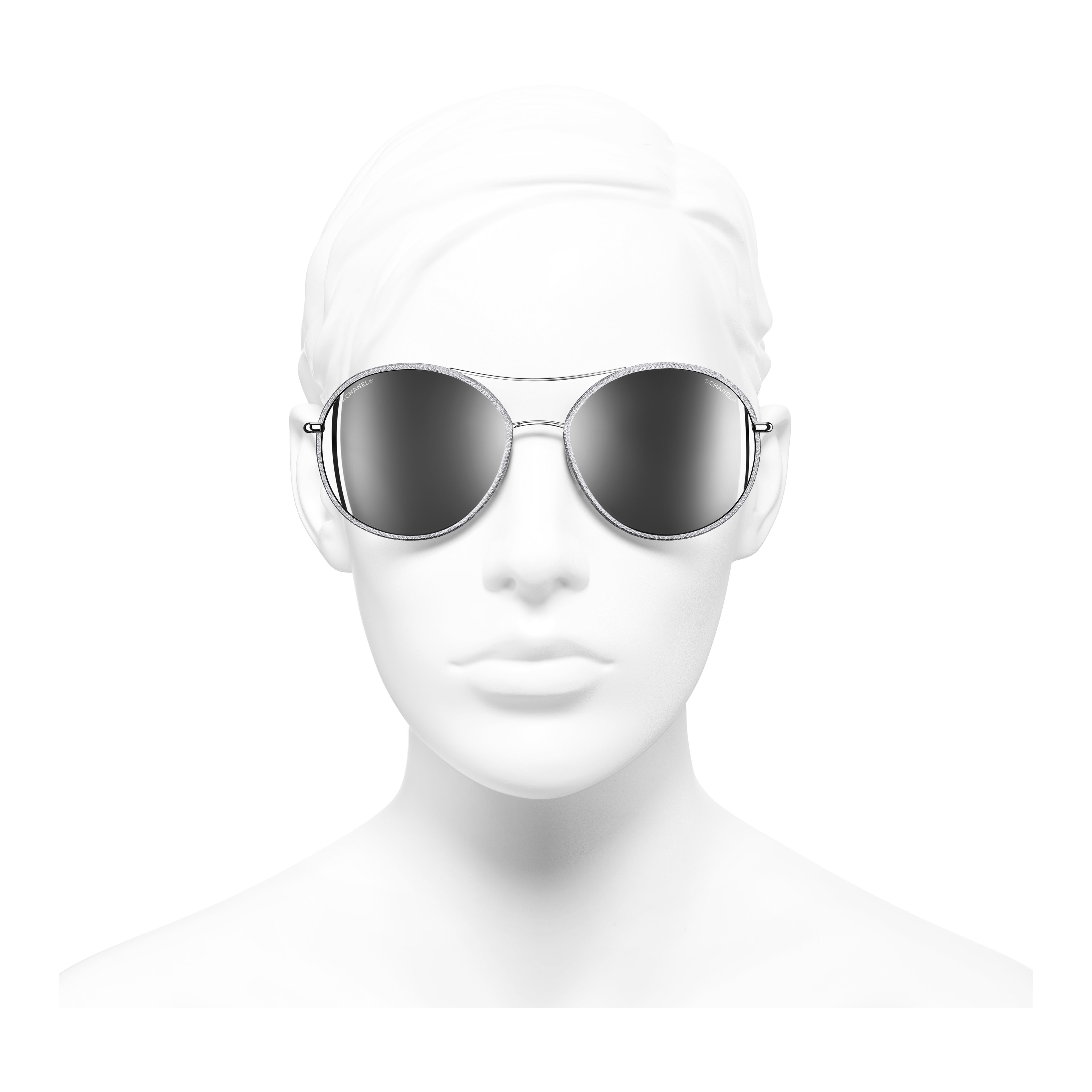 Pilot Sunglasses Metal & Polyester Silver -                                                                     view 2 - see full sized version
