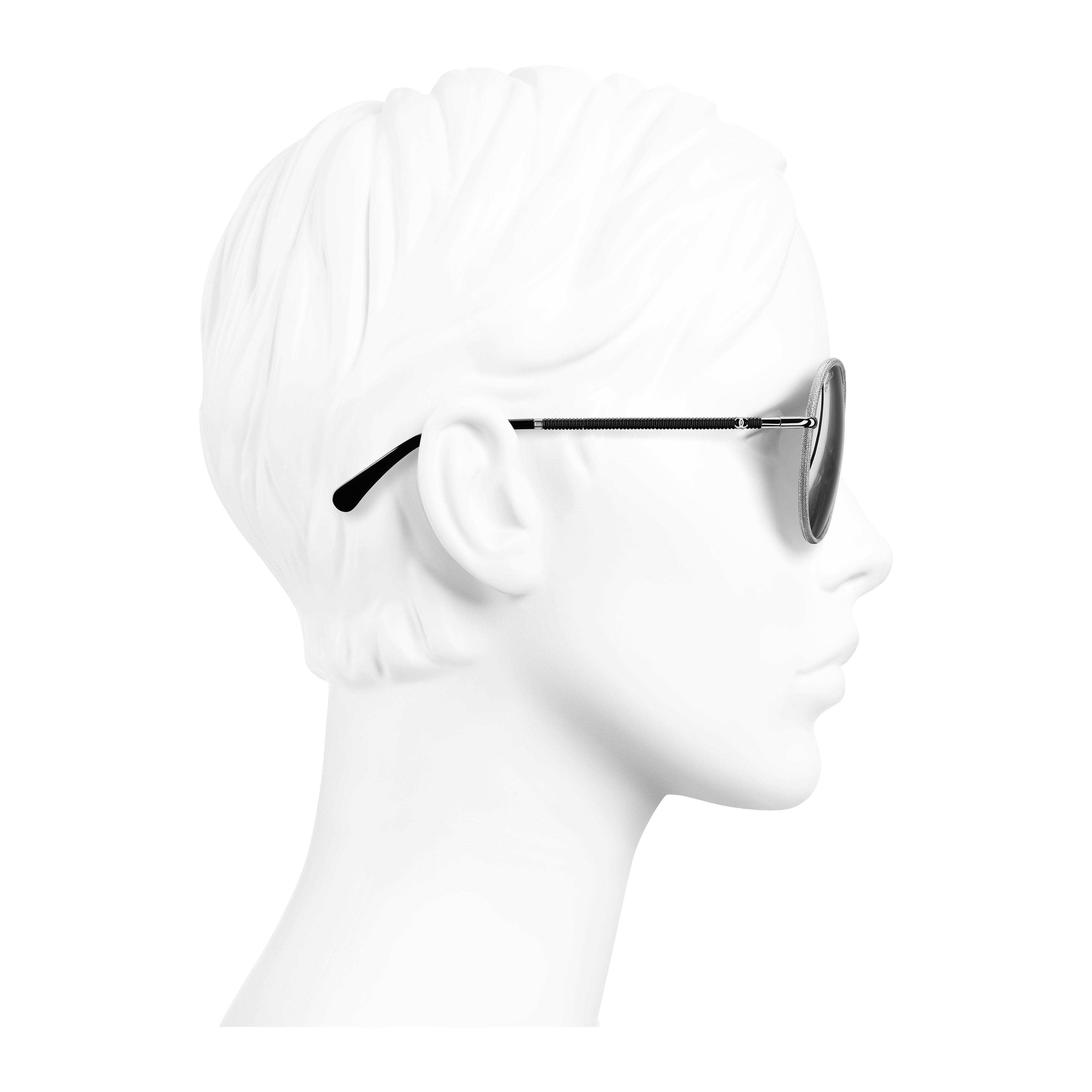 Pilot Sunglasses Metal & Polyester Silver - - see full sized version