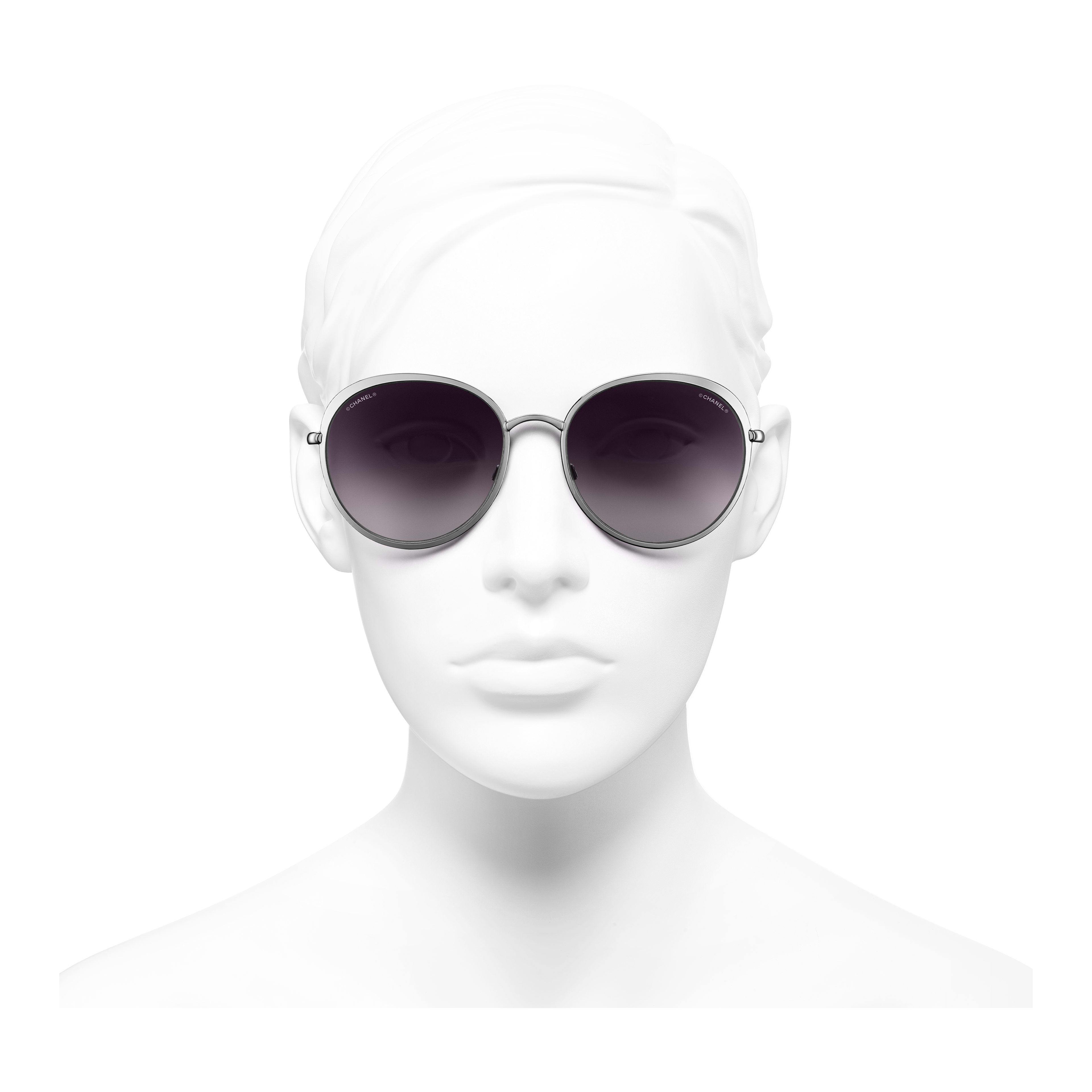Round Sunglasses Metal Silver -                                                                     view 2 - see full sized version