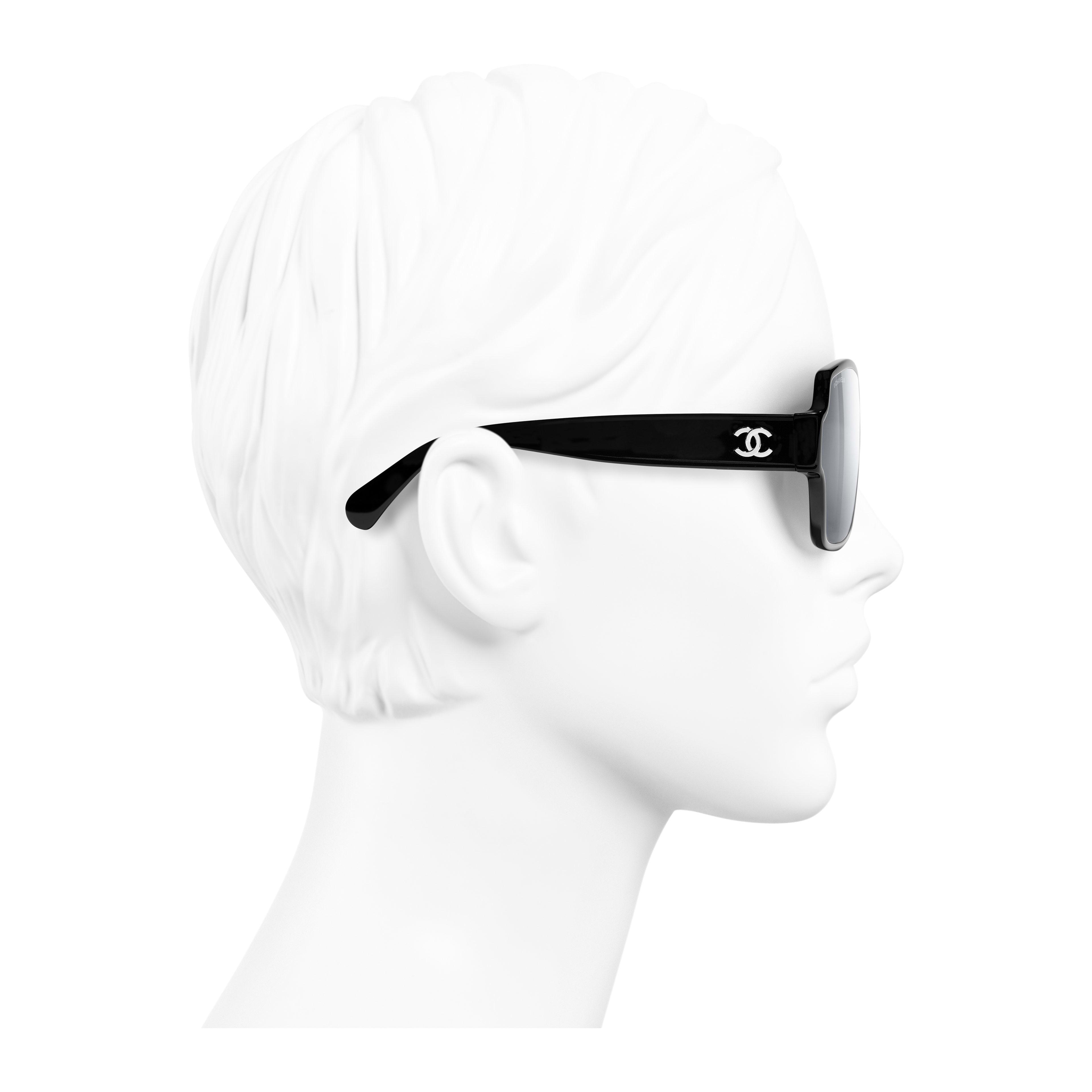 Square Sunglasses Acetate Black - - see full sized version