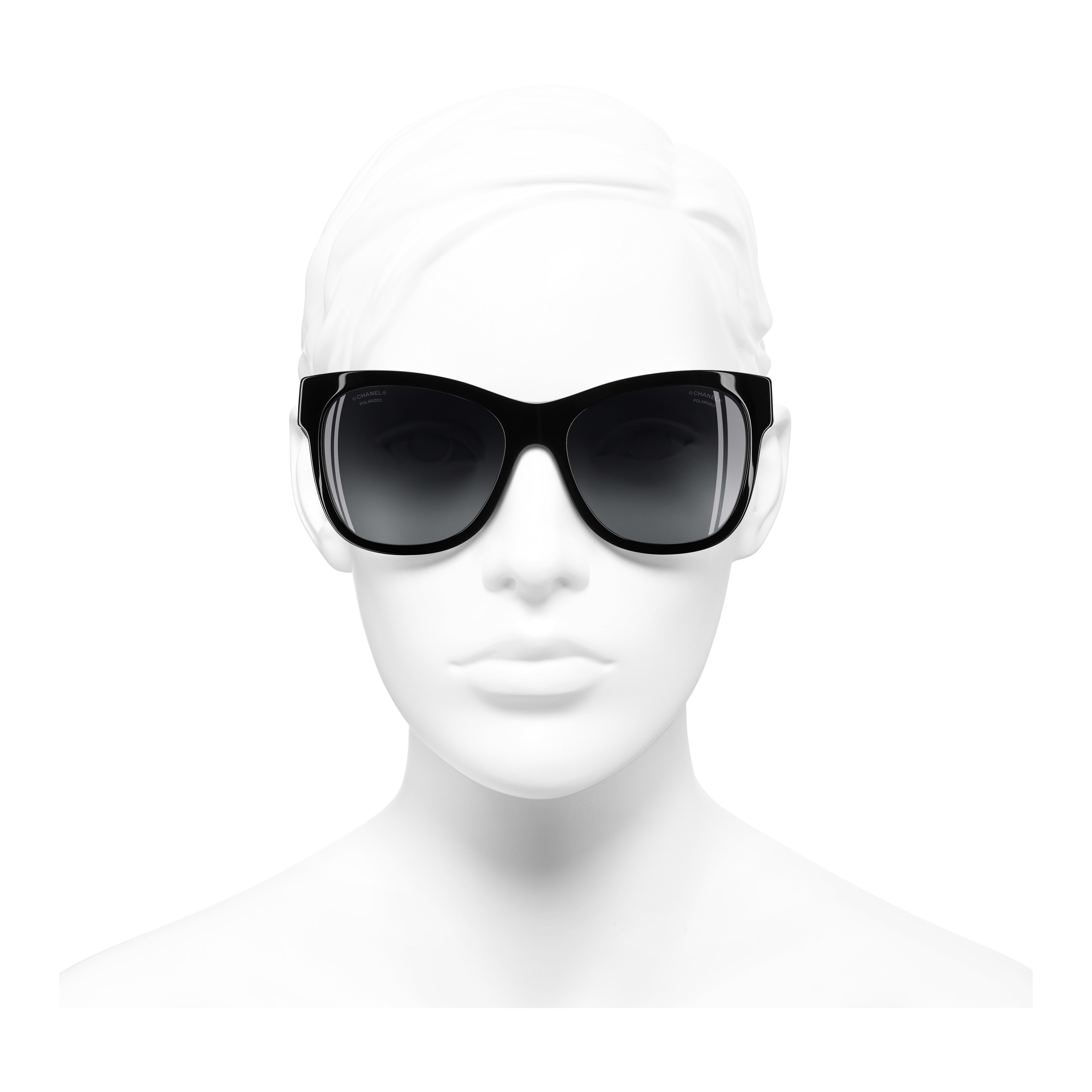 Square Sunglasses Acetate - Polarized Lenses Black -                                                                     view 2 - see full sized version