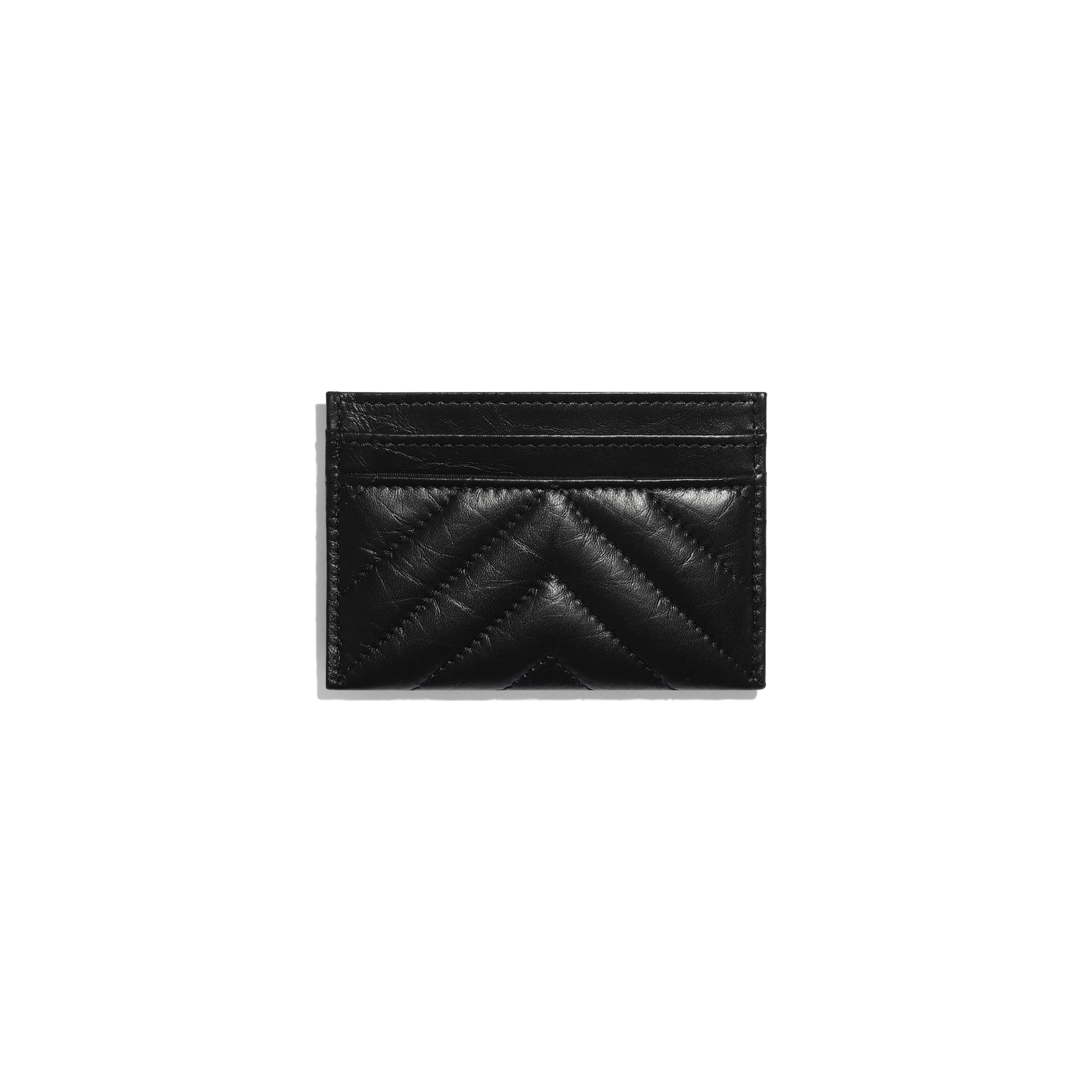 2.55 Card Holder - Black - Aged Calfskin & Black Metal - CHANEL - Alternative view - see standard sized version