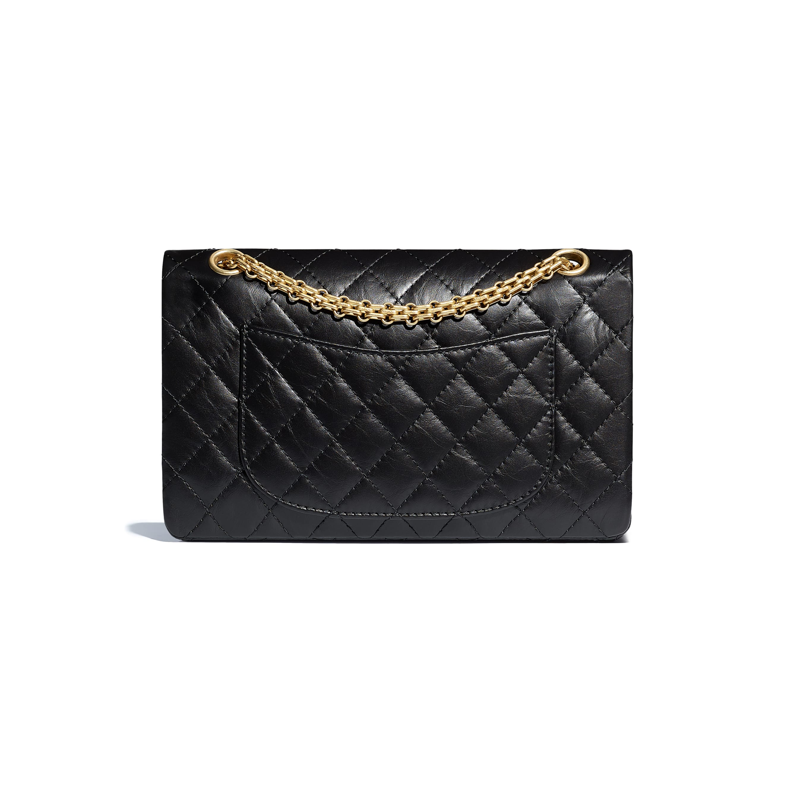 2.55 Handbag - Black - Aged Calfskin & Gold-Tone Metal - Alternative view - see standard sized version