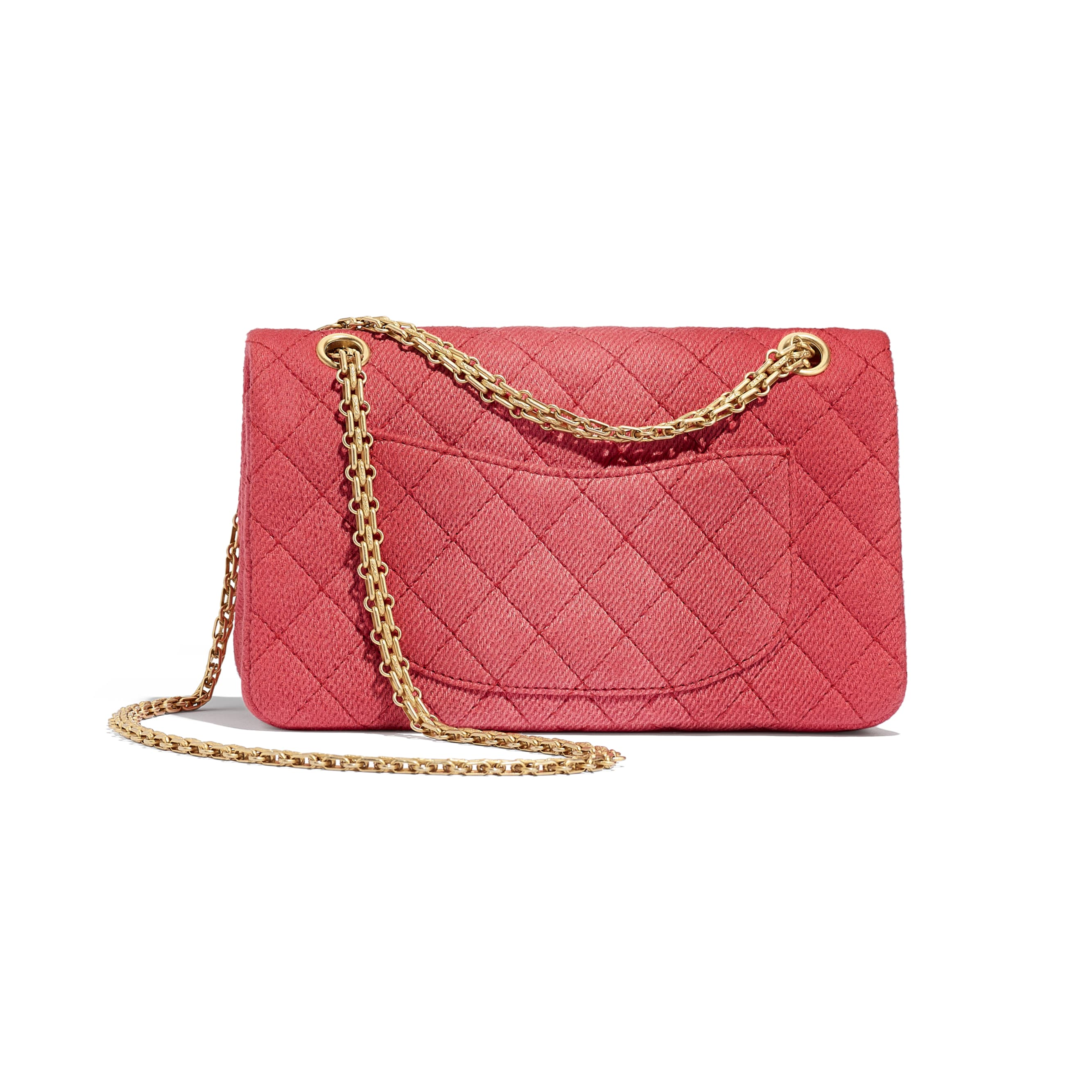 2.55 Handbag - Coral - Denim & Gold Metal - CHANEL - Alternative view - see standard sized version