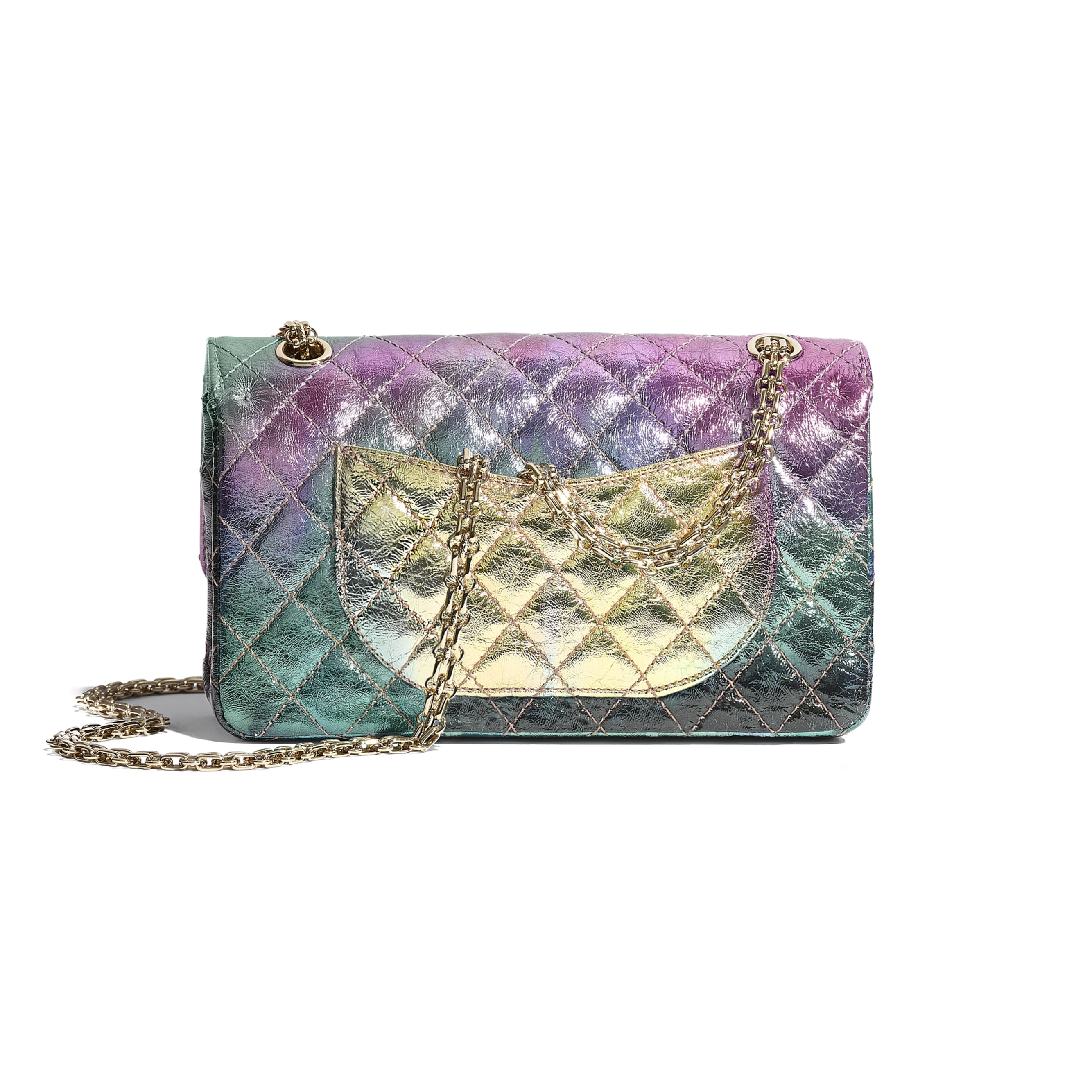 2.55 Handbag - Multicolour - Metallic Goatskin & Gold-Tone Metal - CHANEL - Alternative view - see standard sized version