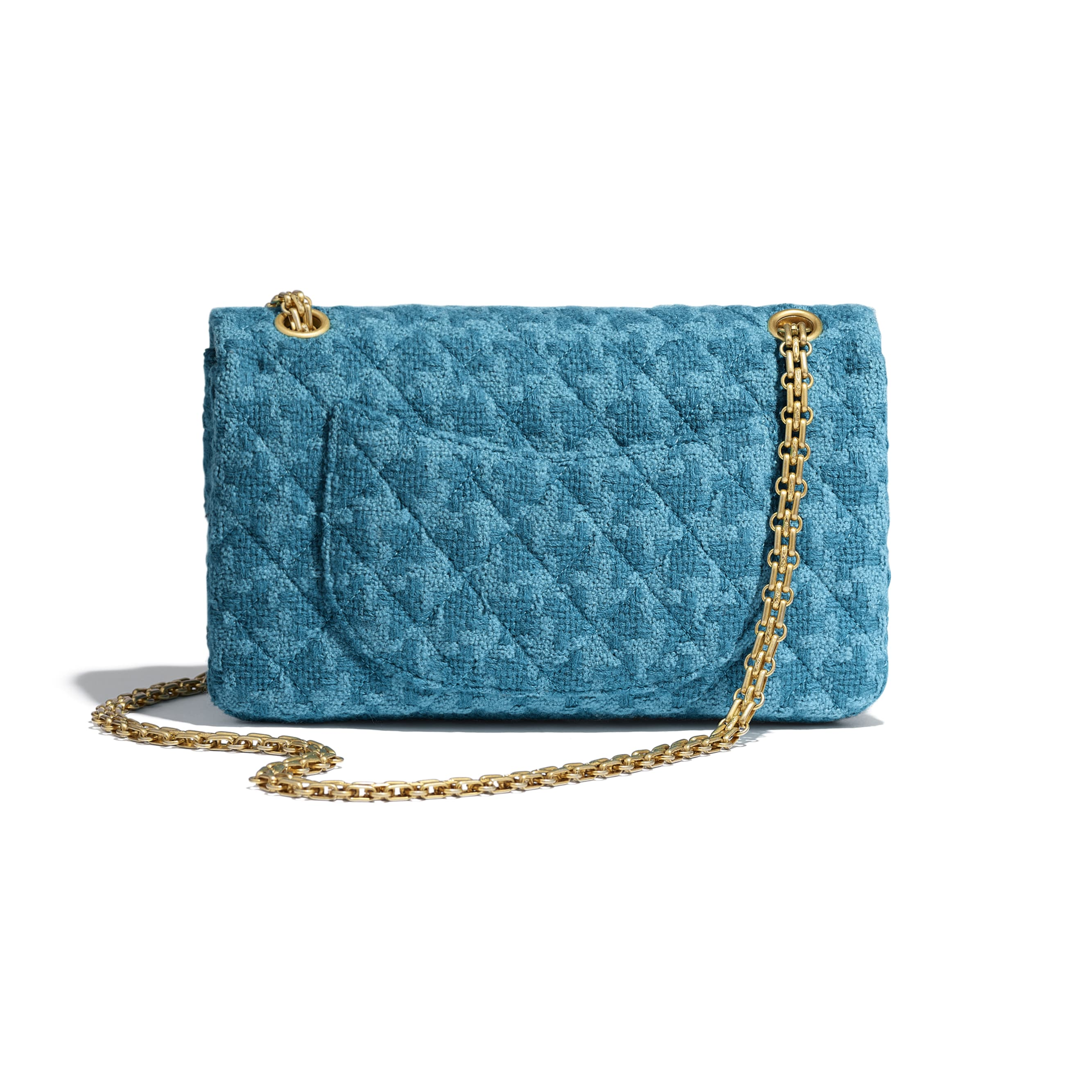 2.55 Handbag - Turquoise - Wool Tweed & Gold-Tone Metal - CHANEL - Alternative view - see standard sized version