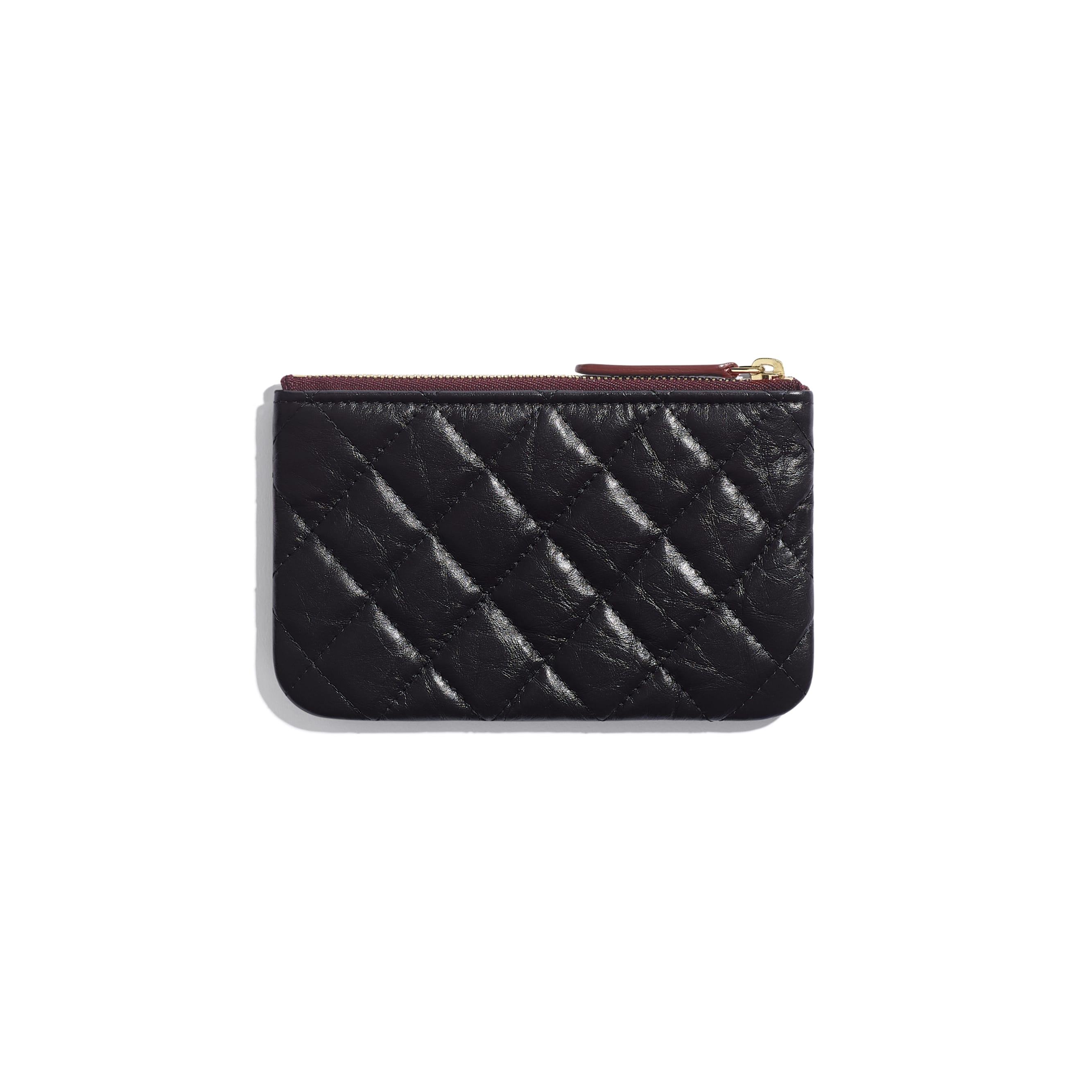 2.55 Mini Pouch - Black - Aged Calfskin & Gold-Tone Metal - CHANEL - Alternative view - see standard sized version