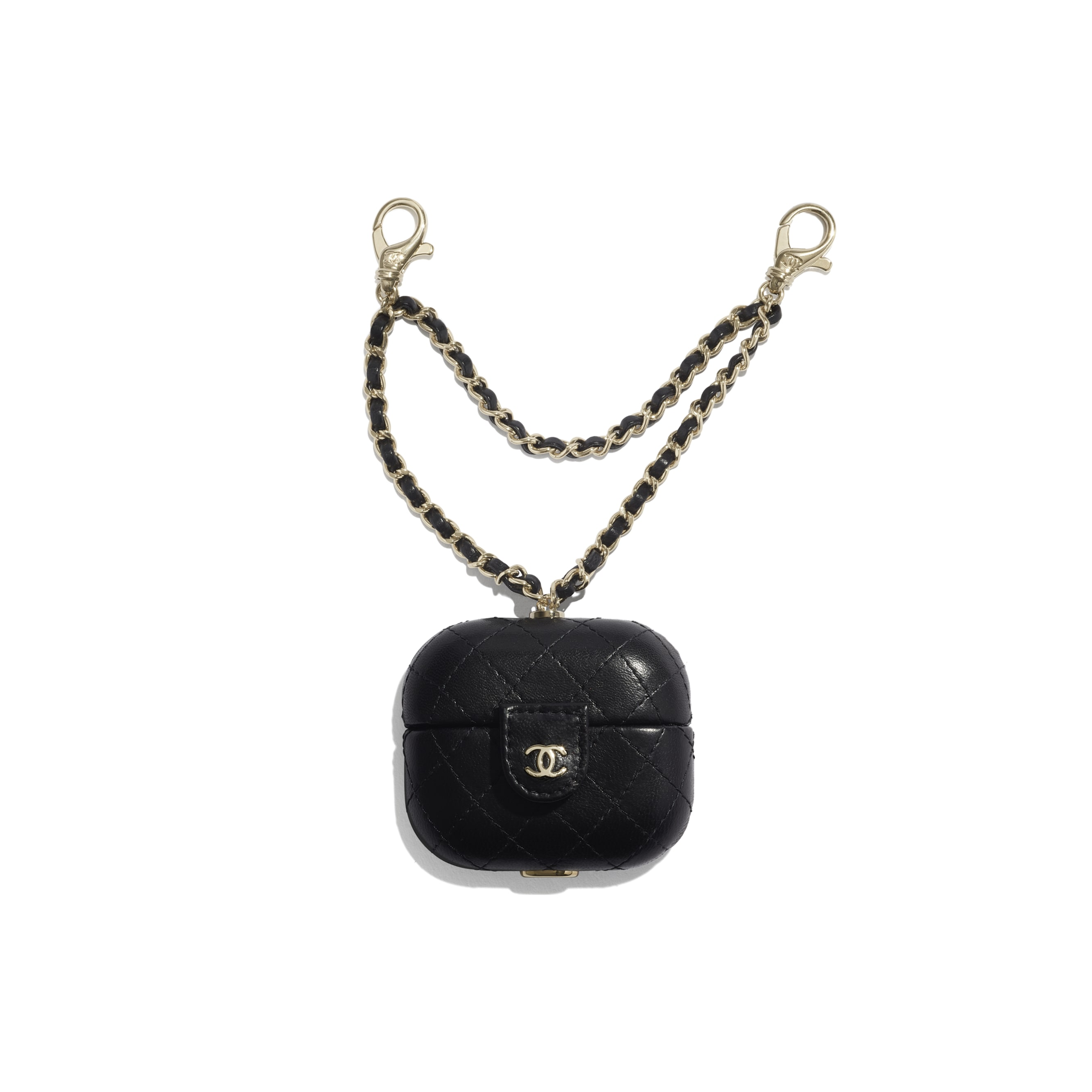 AirPods Pro Case - Black - Lambskin - CHANEL - Default view - see standard sized version