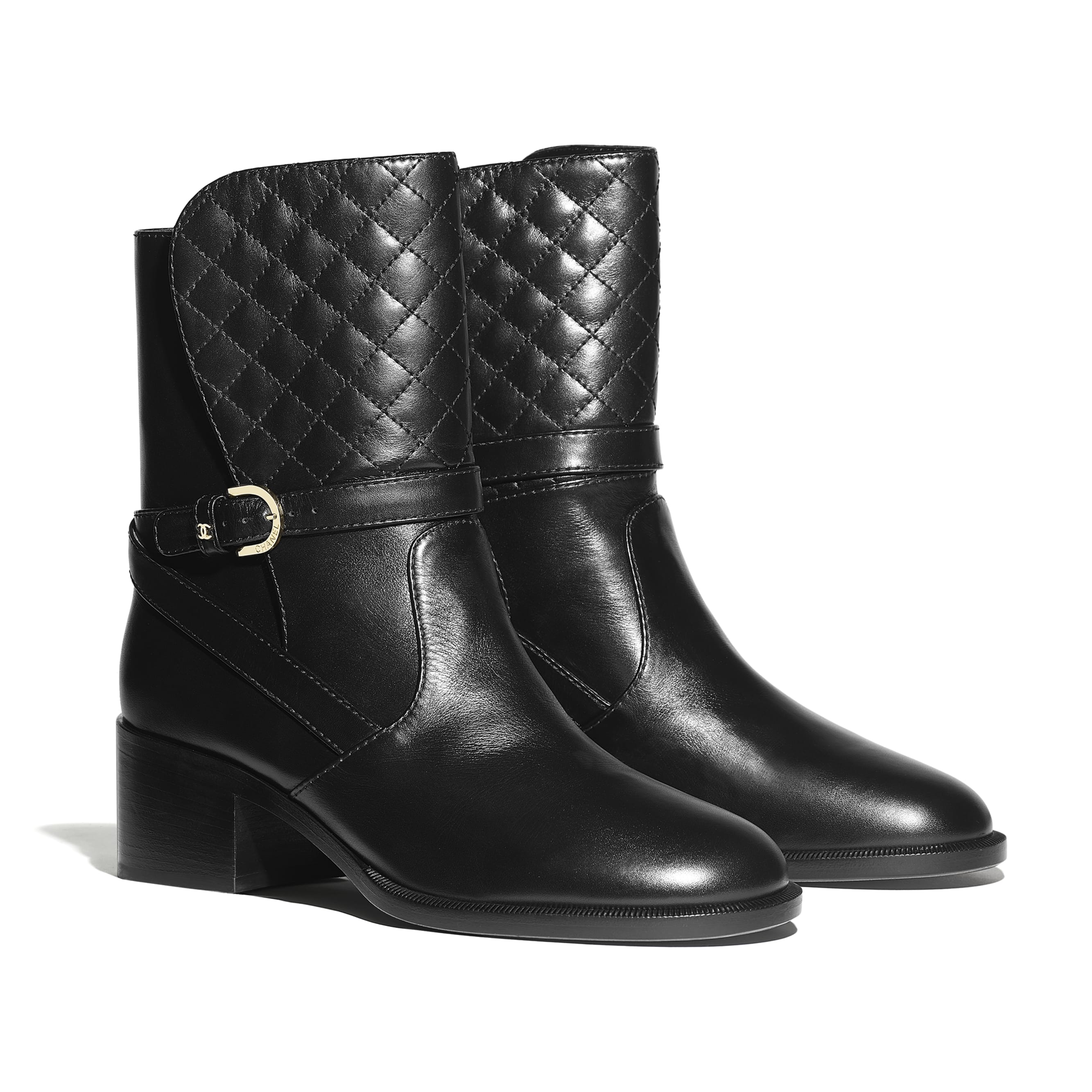 Ankle Boots - Black - Calfskin - Alternative view - see standard sized version