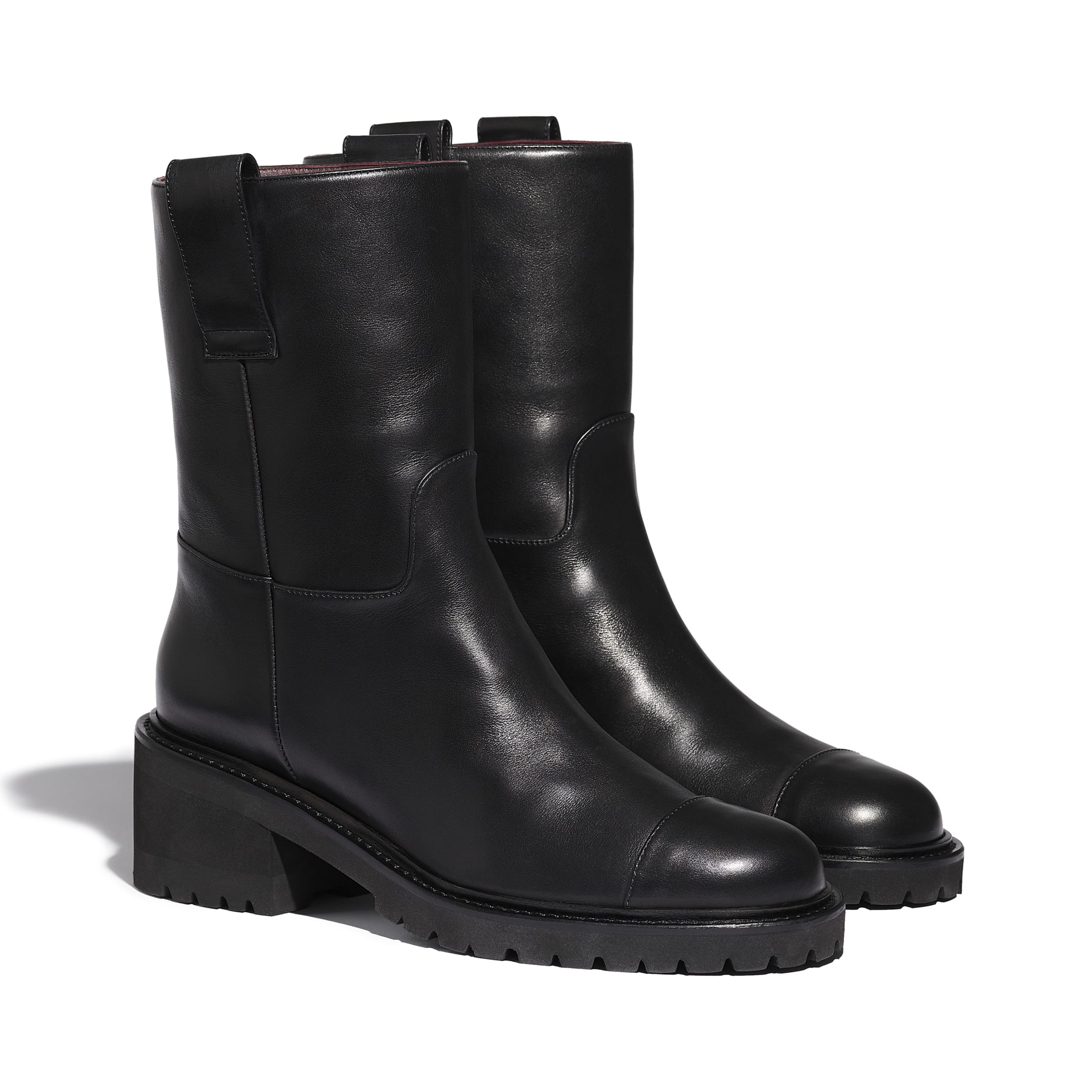 Ankle Boots - Black - Calfskin - CHANEL - Alternative view - see standard sized version