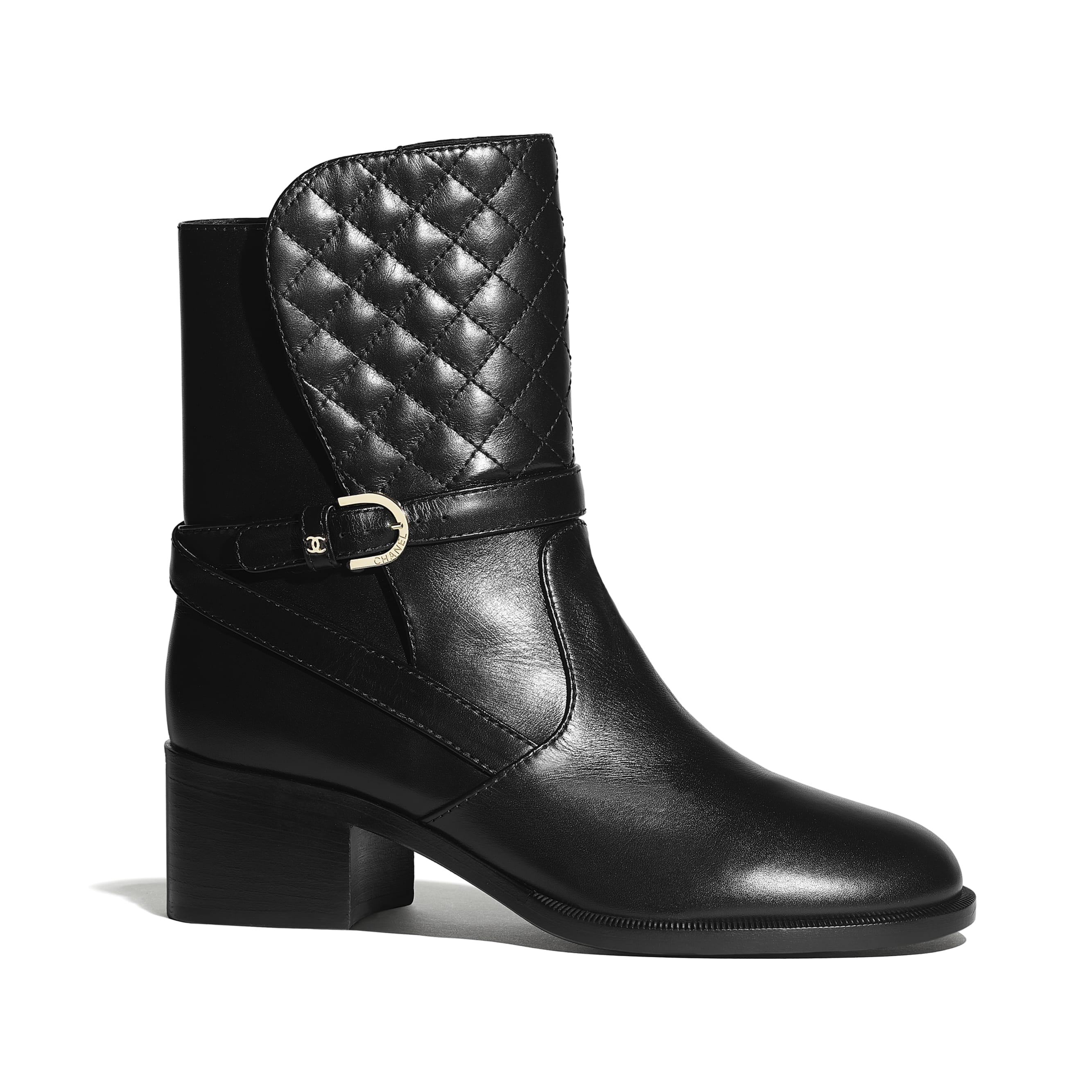 Ankle Boots - Black - Calfskin - Default view - see standard sized version