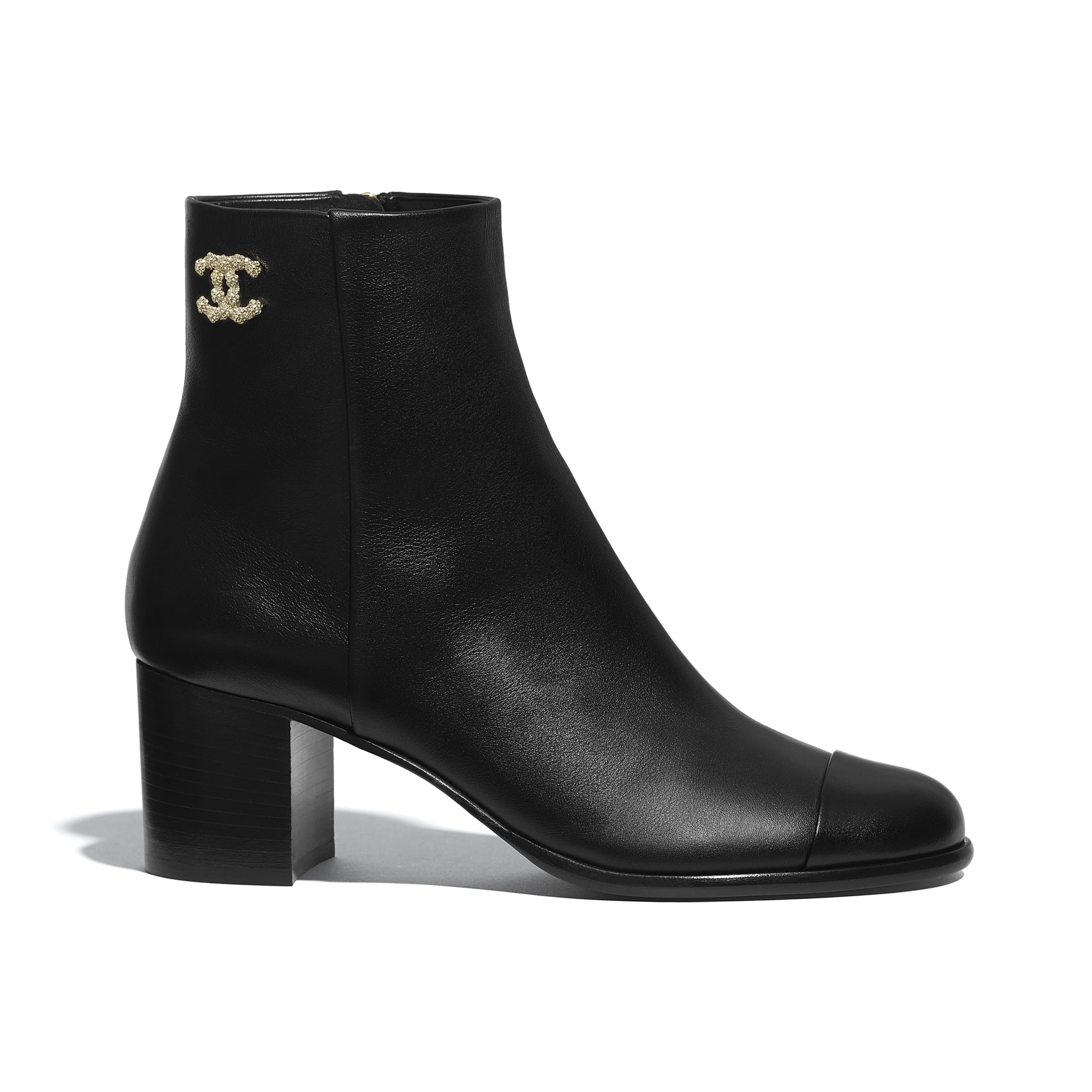 Ankle Boots - Black - Calfskin - CHANEL - Default view - see standard sized version