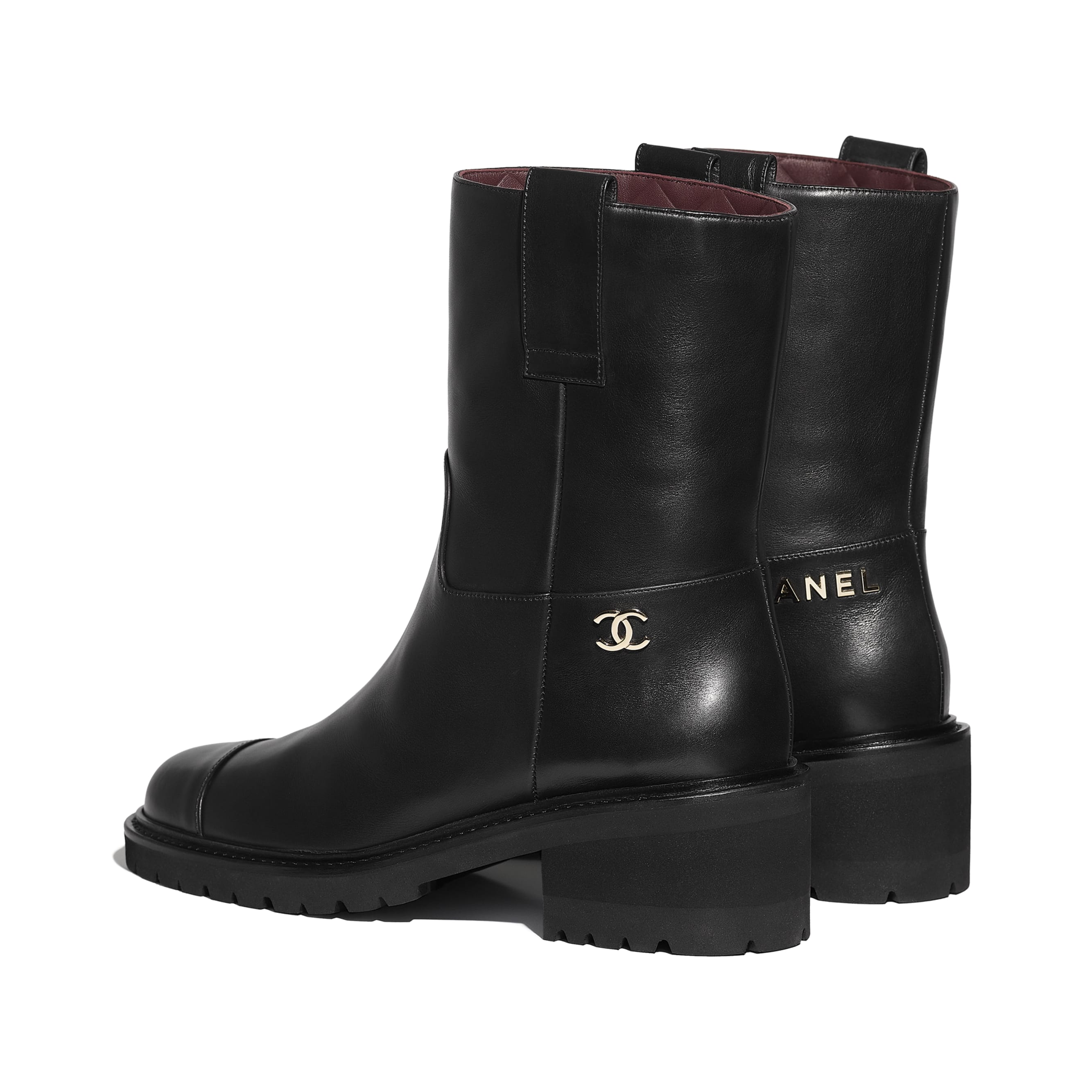 Ankle Boots - Black - Calfskin - CHANEL - Other view - see standard sized version
